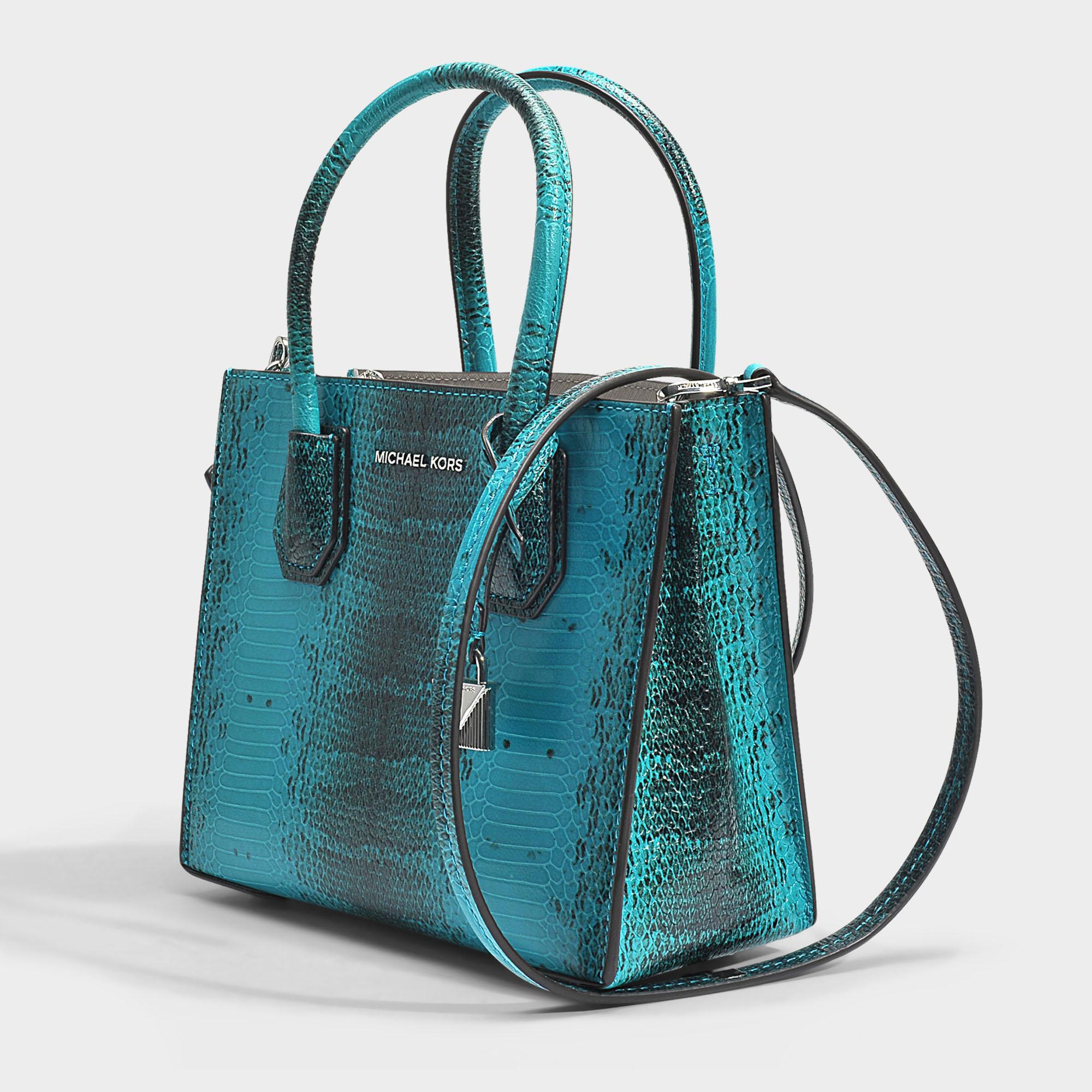 97f78dfc2a5c MICHAEL Michael Kors Mercer Medium Messenger Bag In Tile Blue Python ...