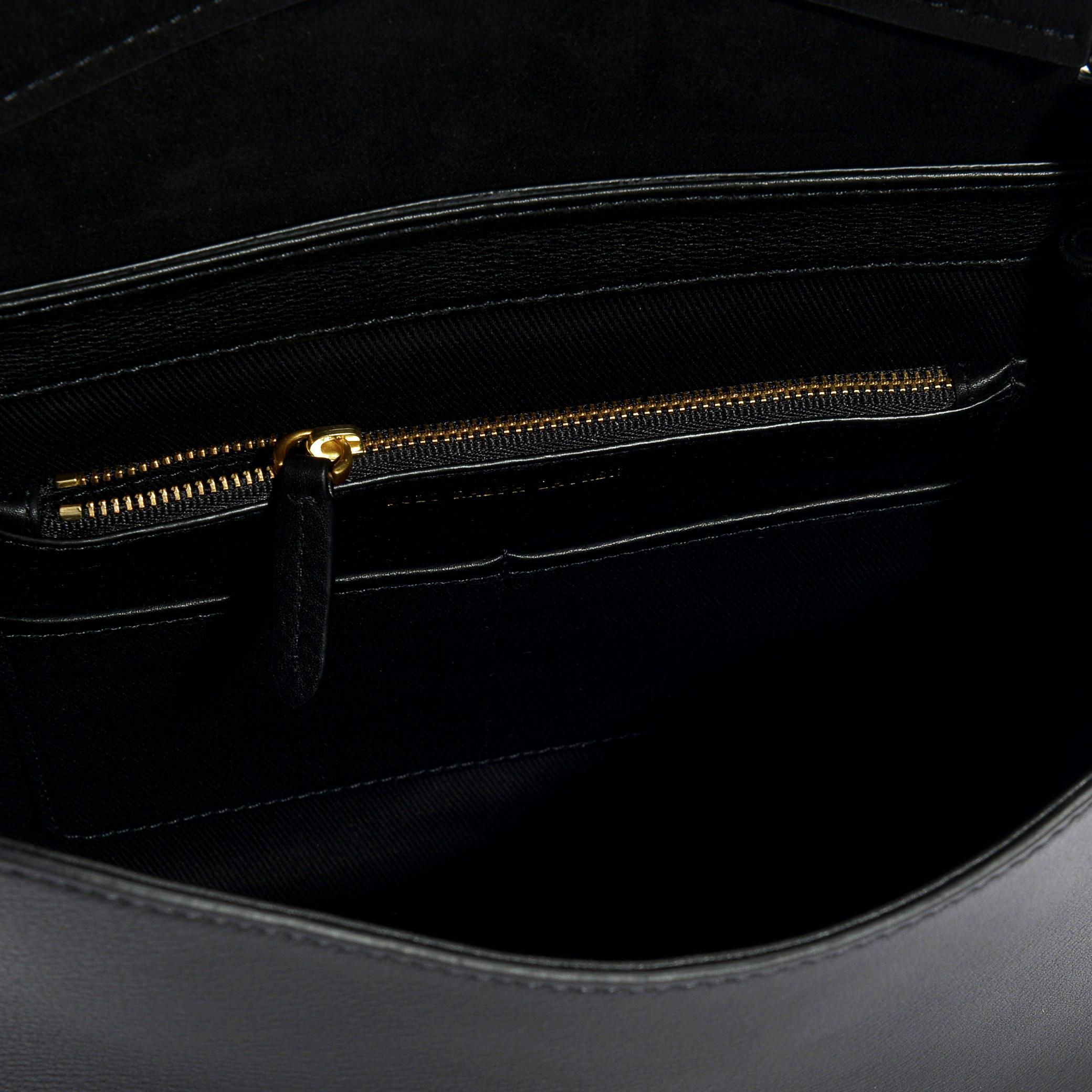 d6687417c1e97 Lyst - Polo Ralph Lauren Kleine Handtasche Brooke aus schwarzem ...