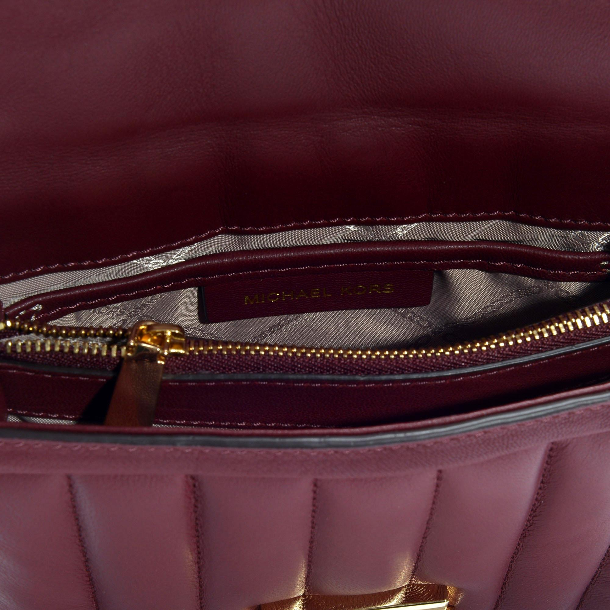 274c87965dec56 MICHAEL Michael Kors - Red Whitney Small Shoulder Bag In Oxblood Quilted  Lambskin - Lyst. View fullscreen