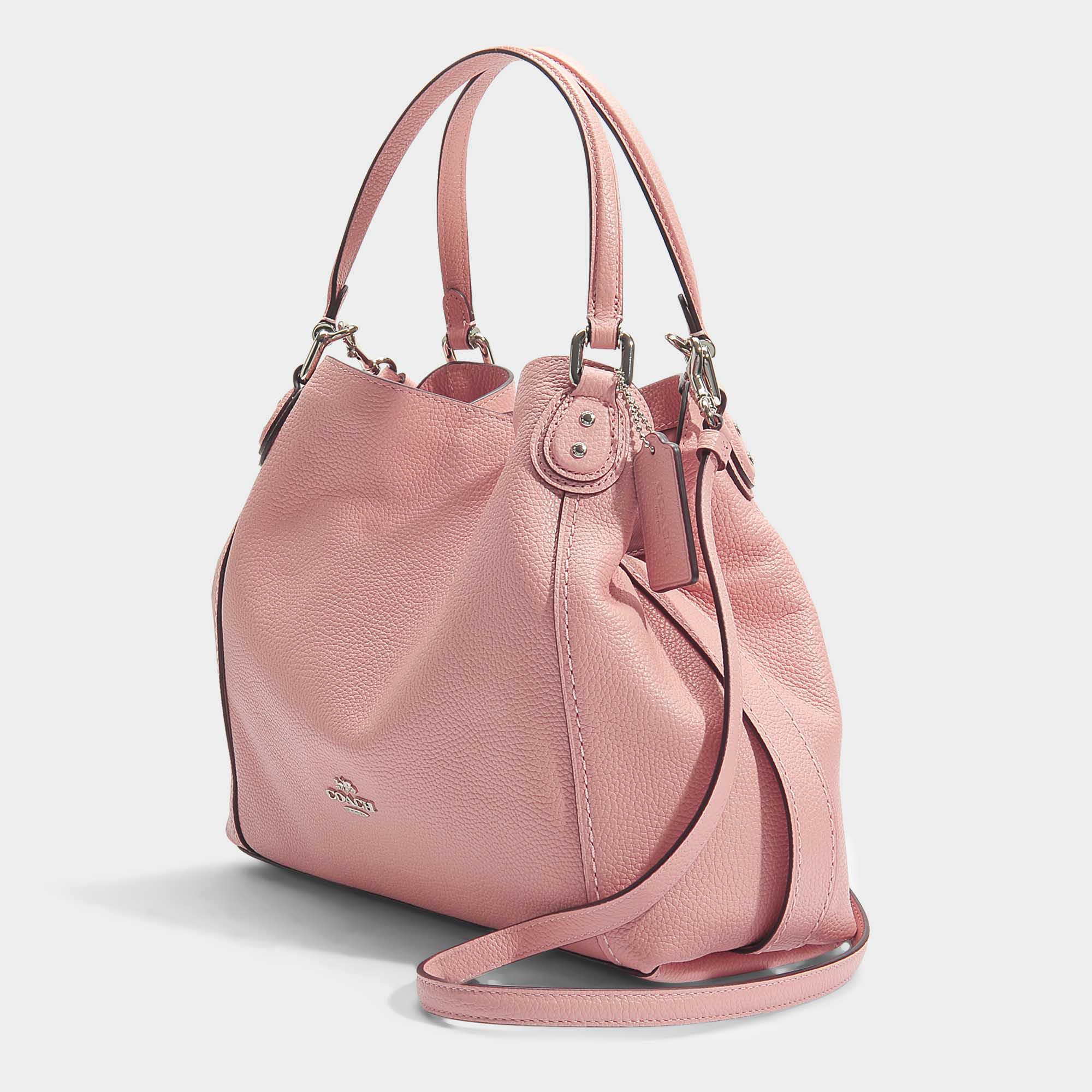 COACH Edie 28 Shoulder Bag In Peony Calfskin in Pink - Lyst