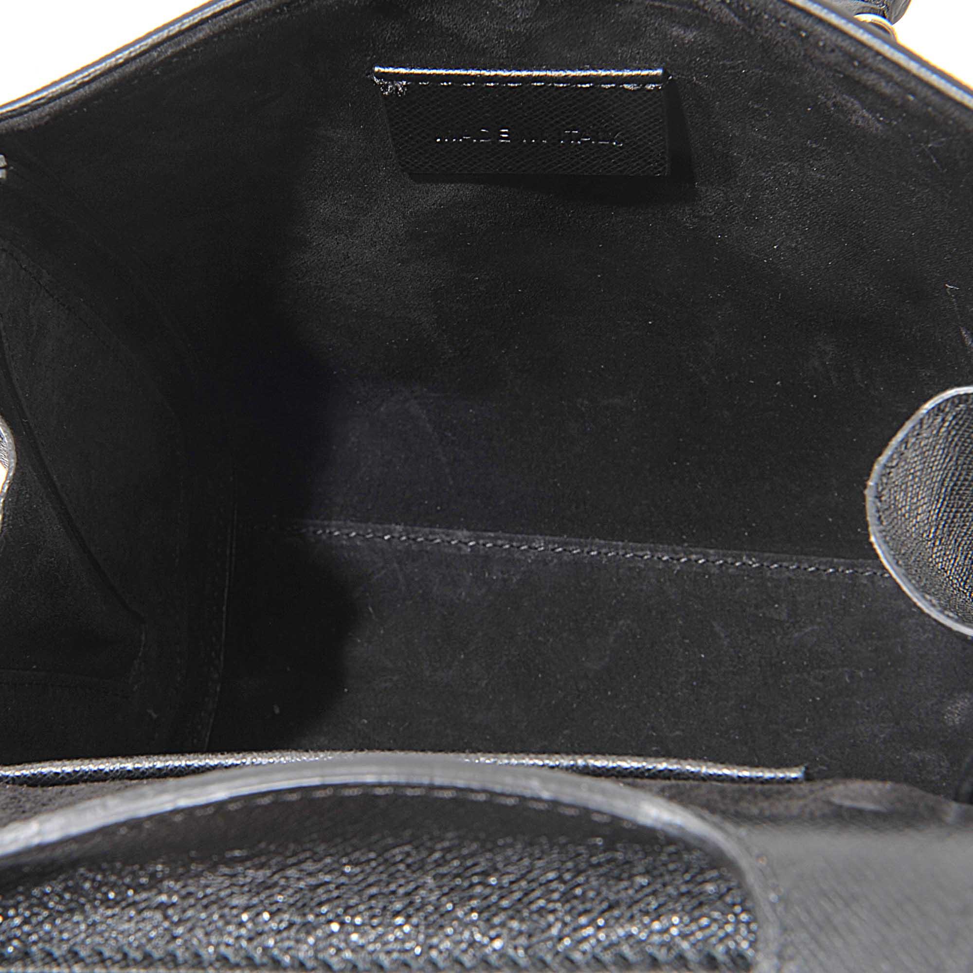 Alexander McQueen Leather Mini Heroine Cross Charm Bag in Black