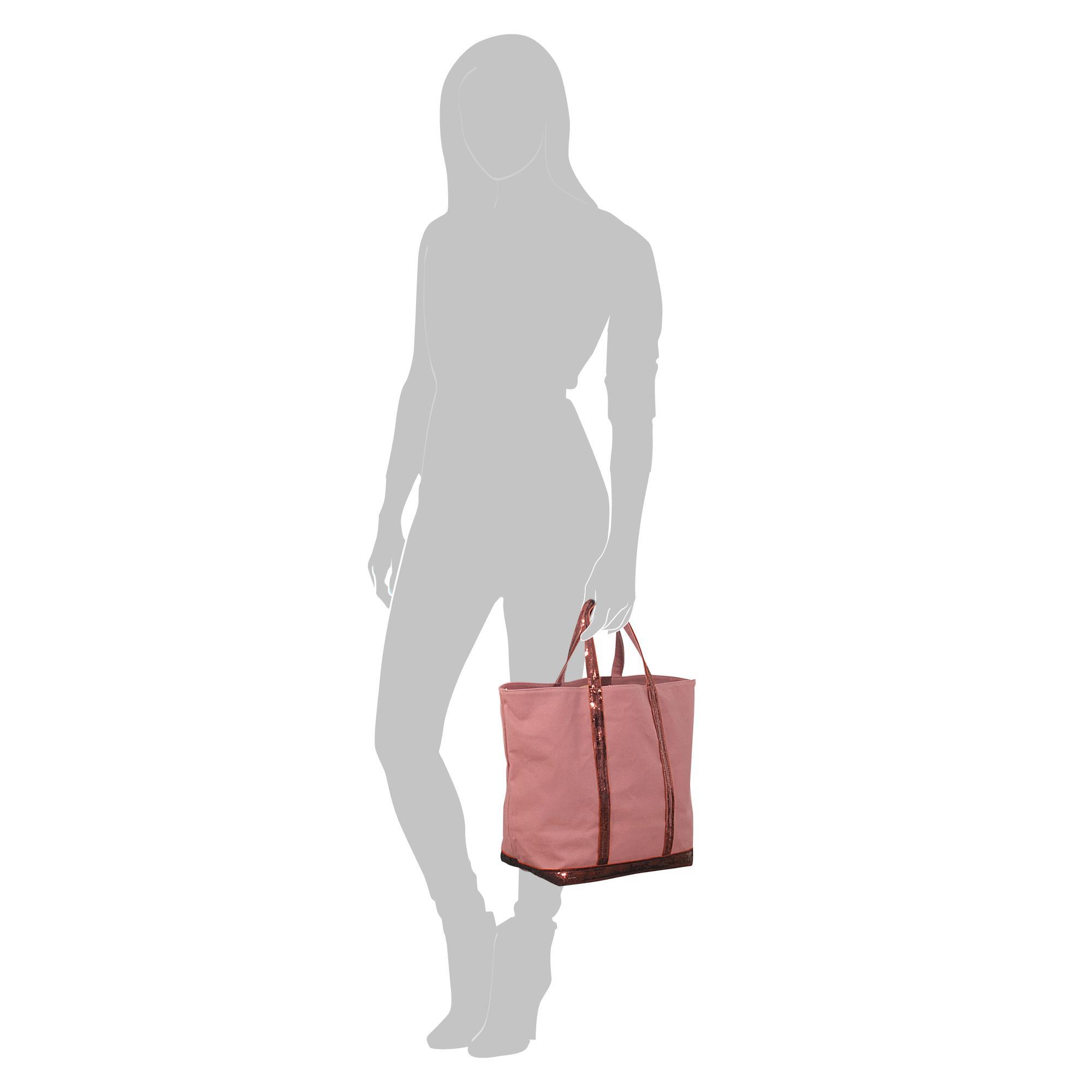 Vanessa Bruno Sequins And Canvas Medium + Tote in Pink