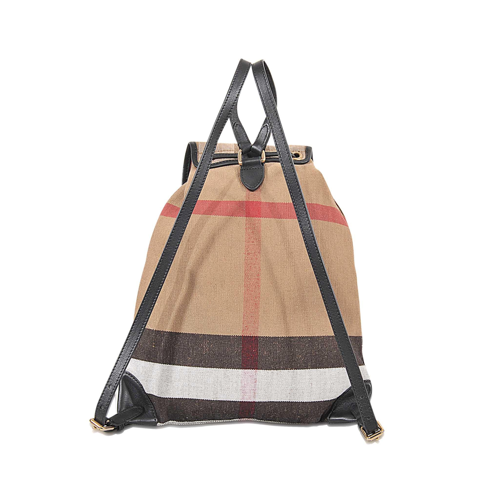 Burberry Canvas Medium Chiltern Bag in Black