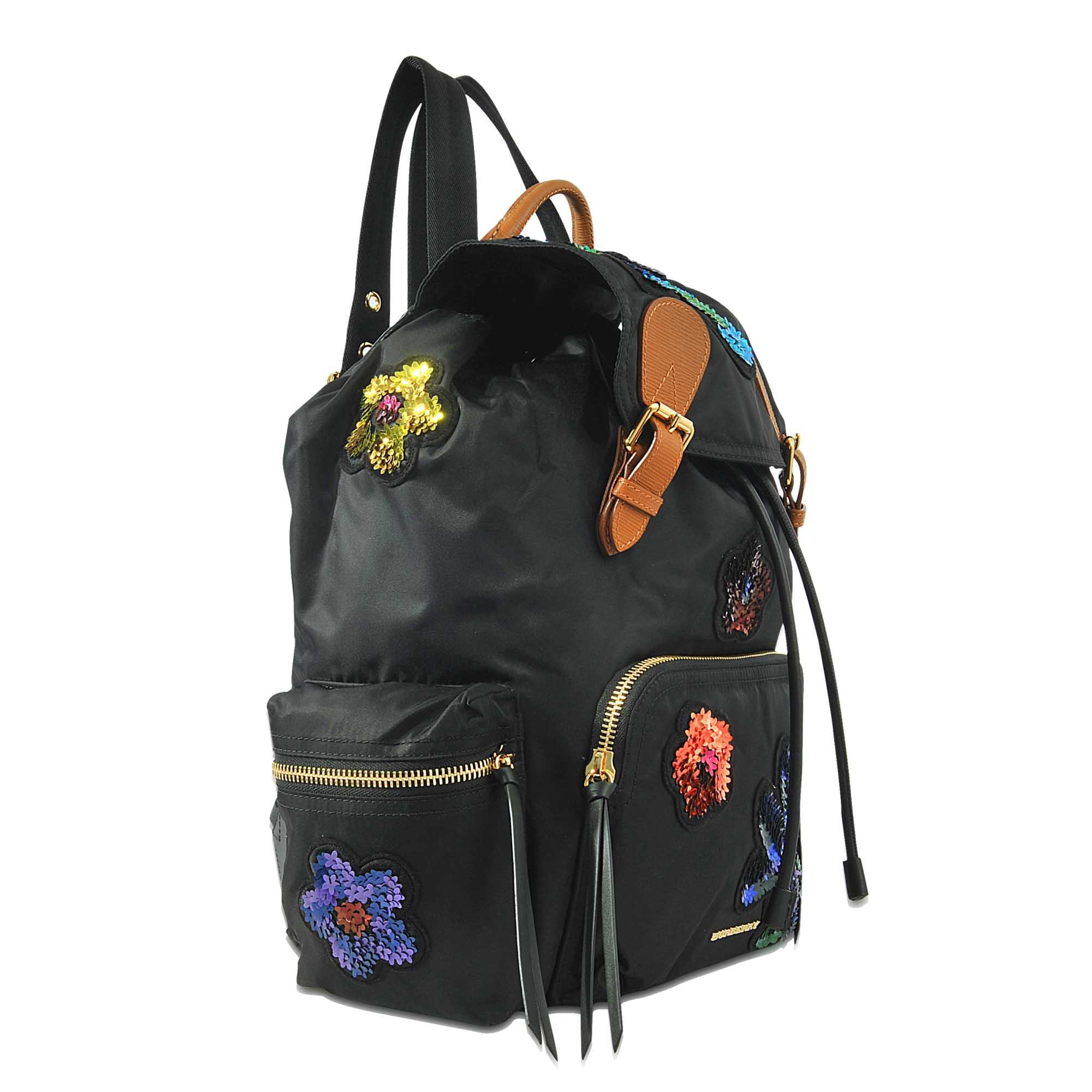 Burberry Synthetic Rucksack Backpack Sequin Flowers