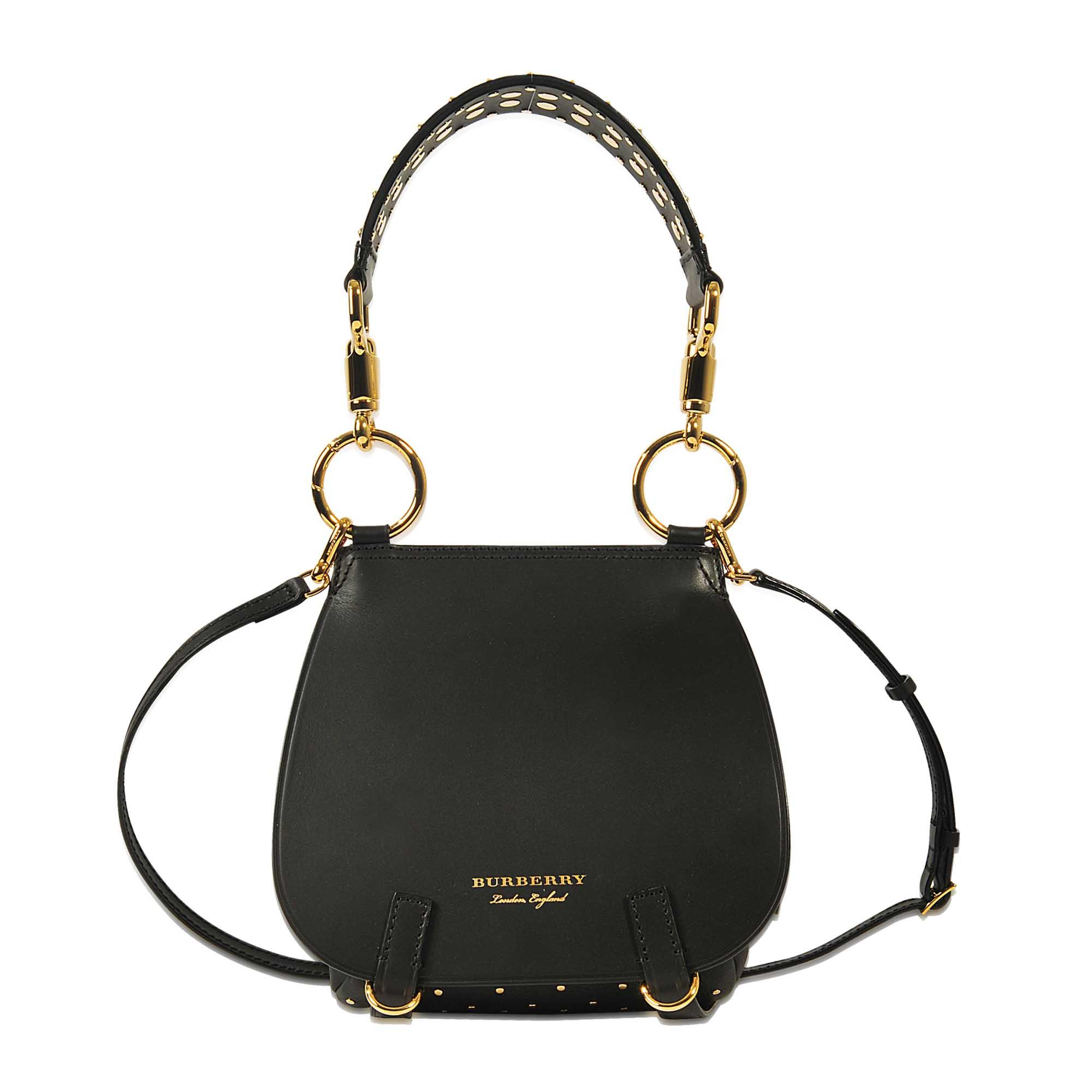 4846a54d9f9c Lyst - Burberry Bridle Bag With Studs in Natural