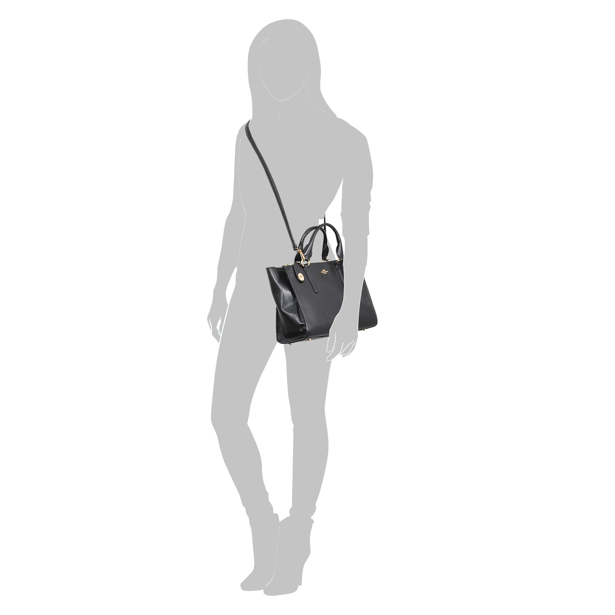 COACH Soft Swagger Carryall In Soft Grain Leather in Black