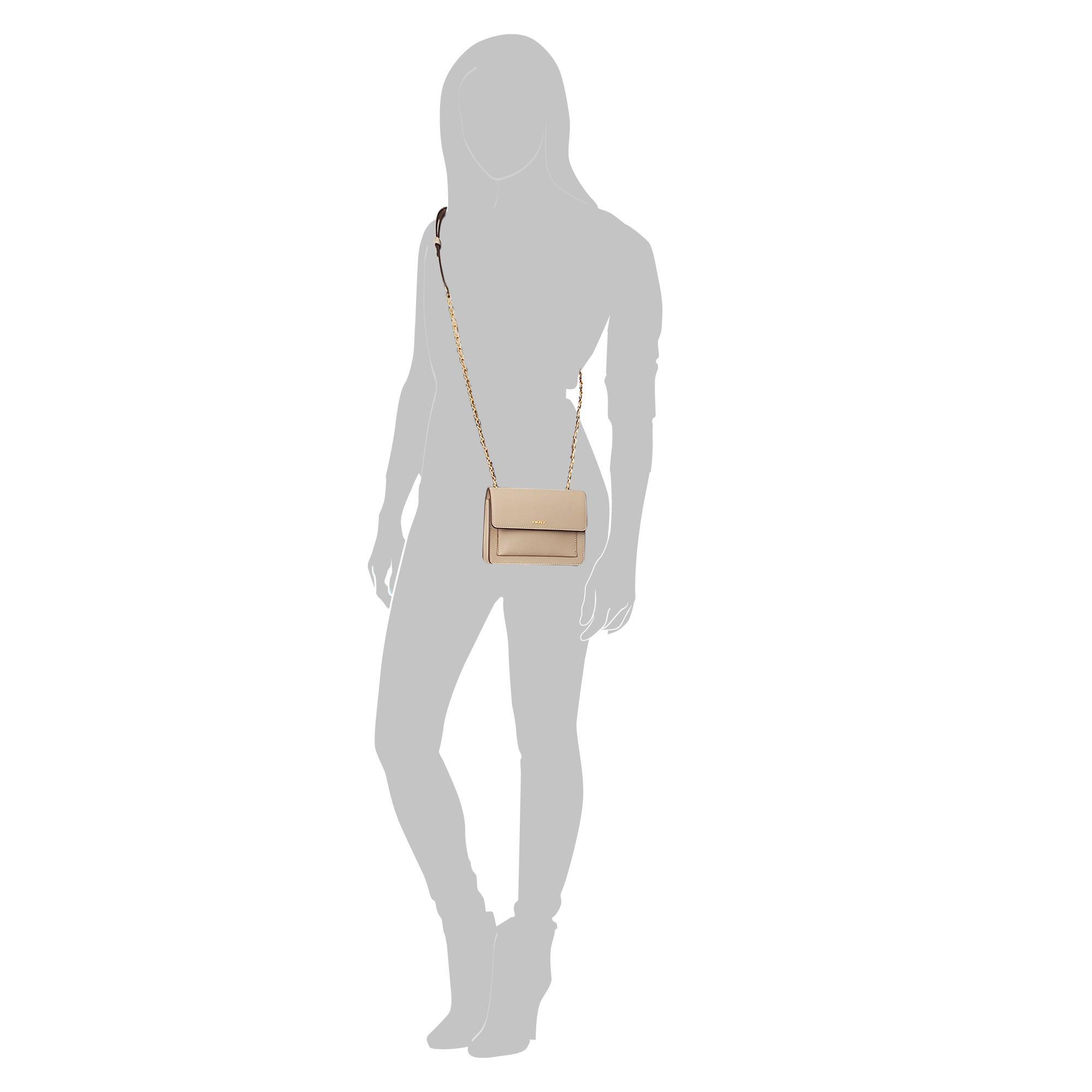 DKNY Leather Bryant Park Mini Flap Crossbody Bag