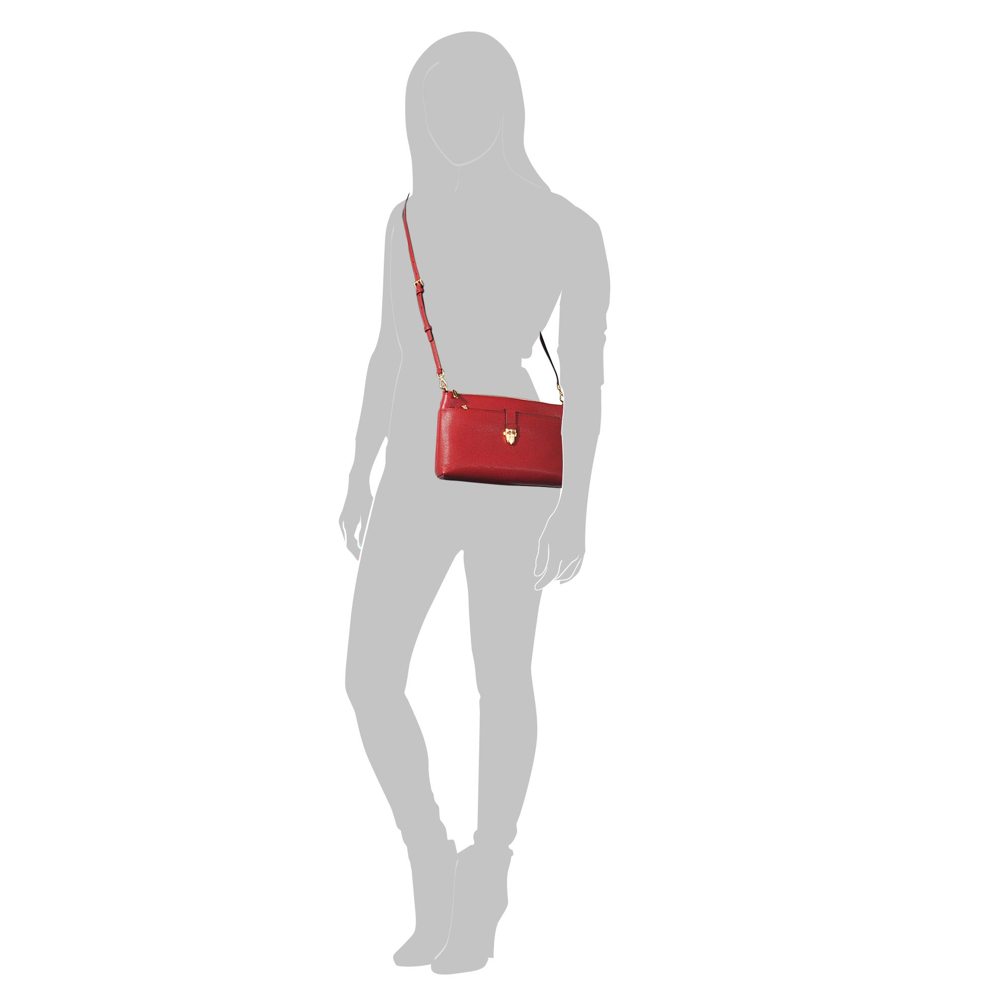 MICHAEL Michael Kors Mercer Large Snap Pocket Crossbody Bag in Red
