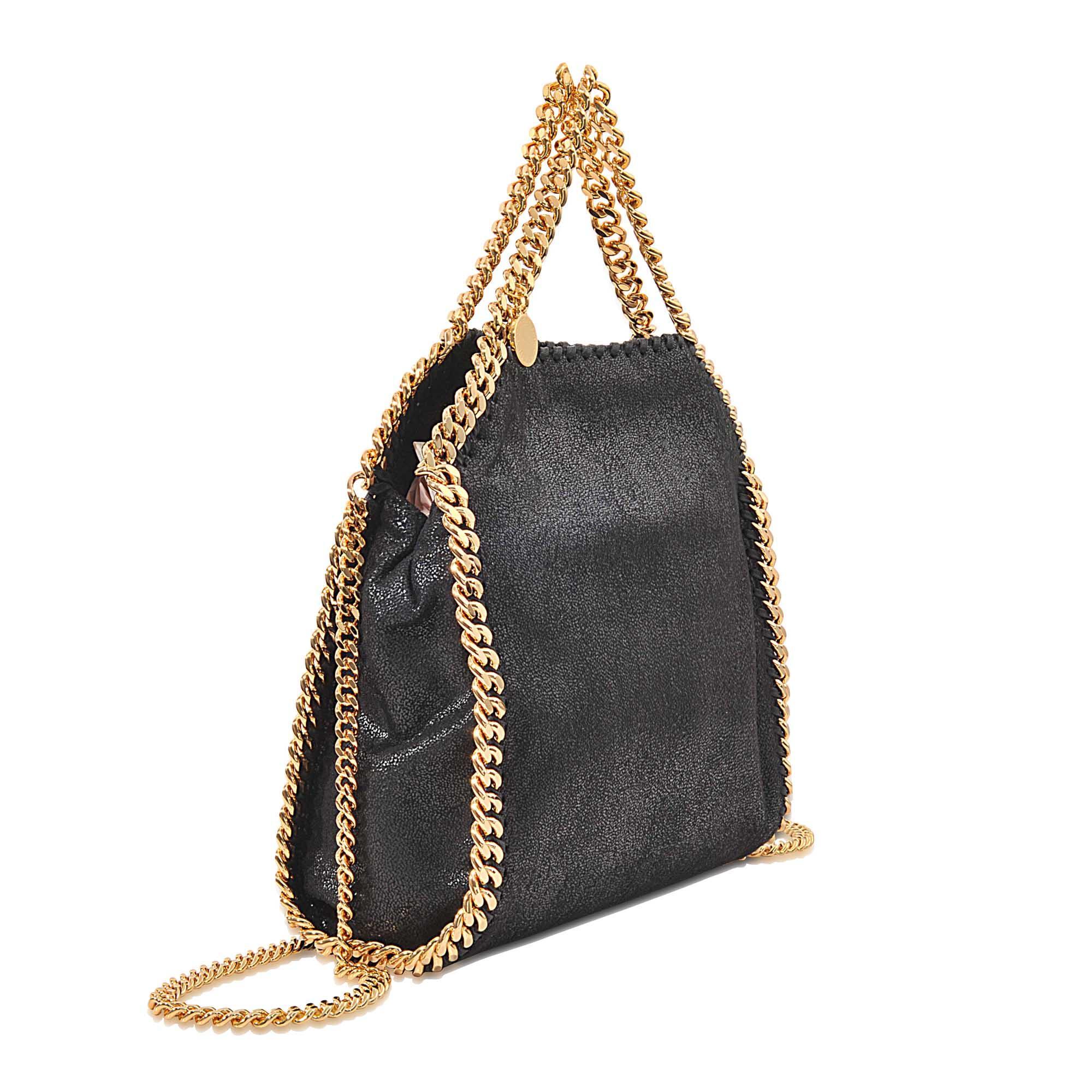 stella mccartney falabella minibella shaggy deer bag in black lyst. Black Bedroom Furniture Sets. Home Design Ideas
