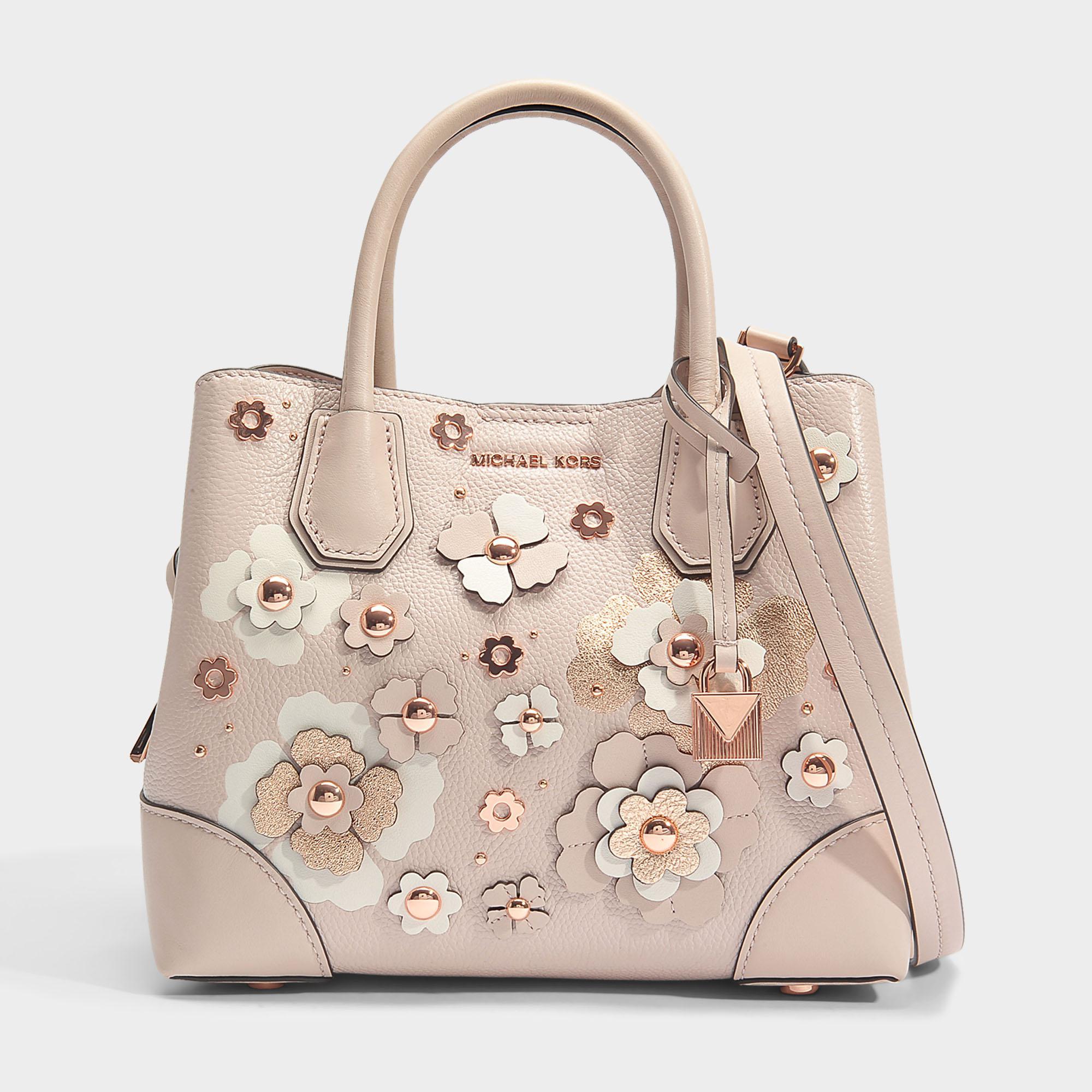 MICHAEL Michael Kors. Women s Mercer Gallery Small Center Zip Satchel Bag  In Soft Pink Double Sided Mercer Pebble Leather e4888288de