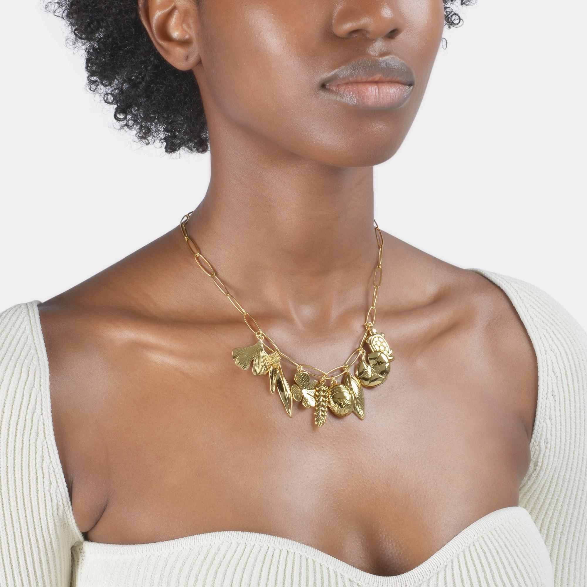 Aurelie Bidermann Aurelie Charm Necklace in Metallic
