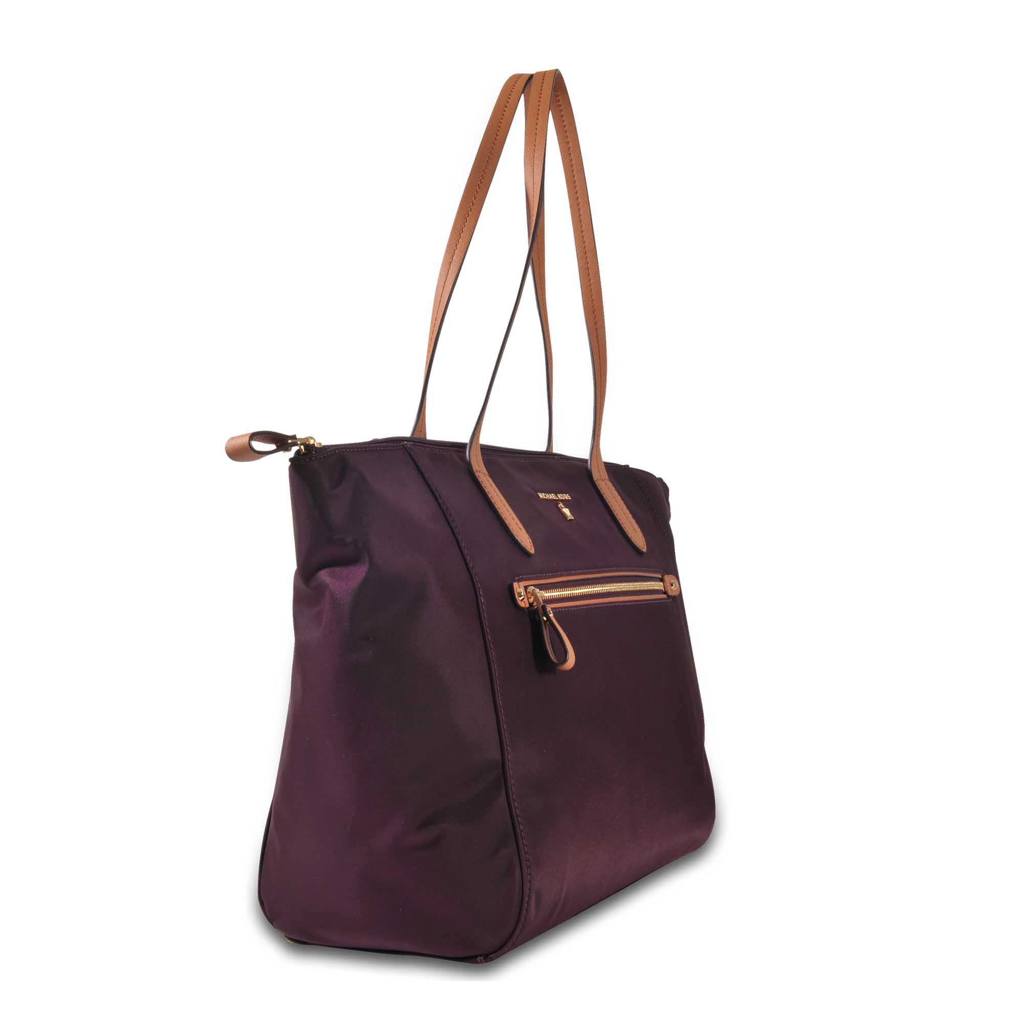 MICHAEL Michael Kors Synthetic Nylon Kelsey Lg Tz Tote in Purple