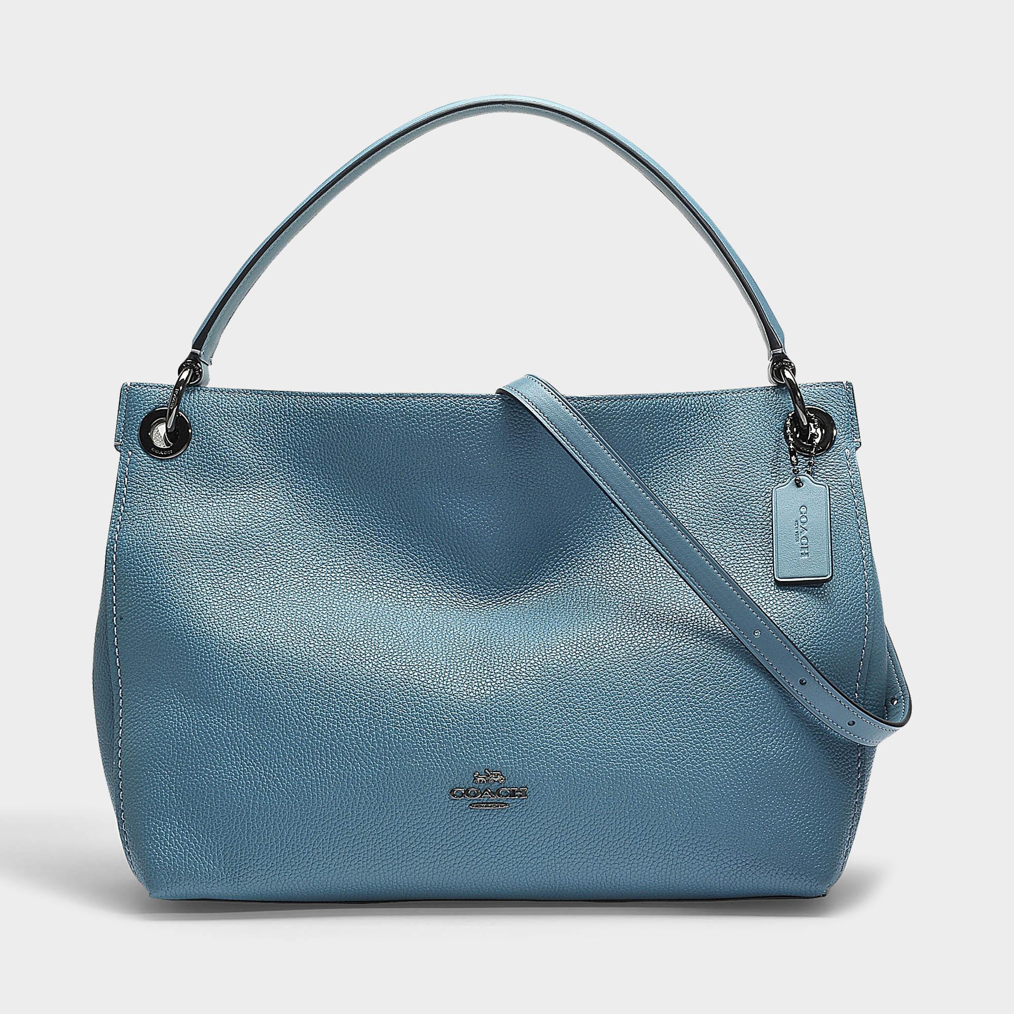 64e3dfb55fbf COACH Clarkson Hobo Bag In Chambray Calfskin in Blue - Lyst