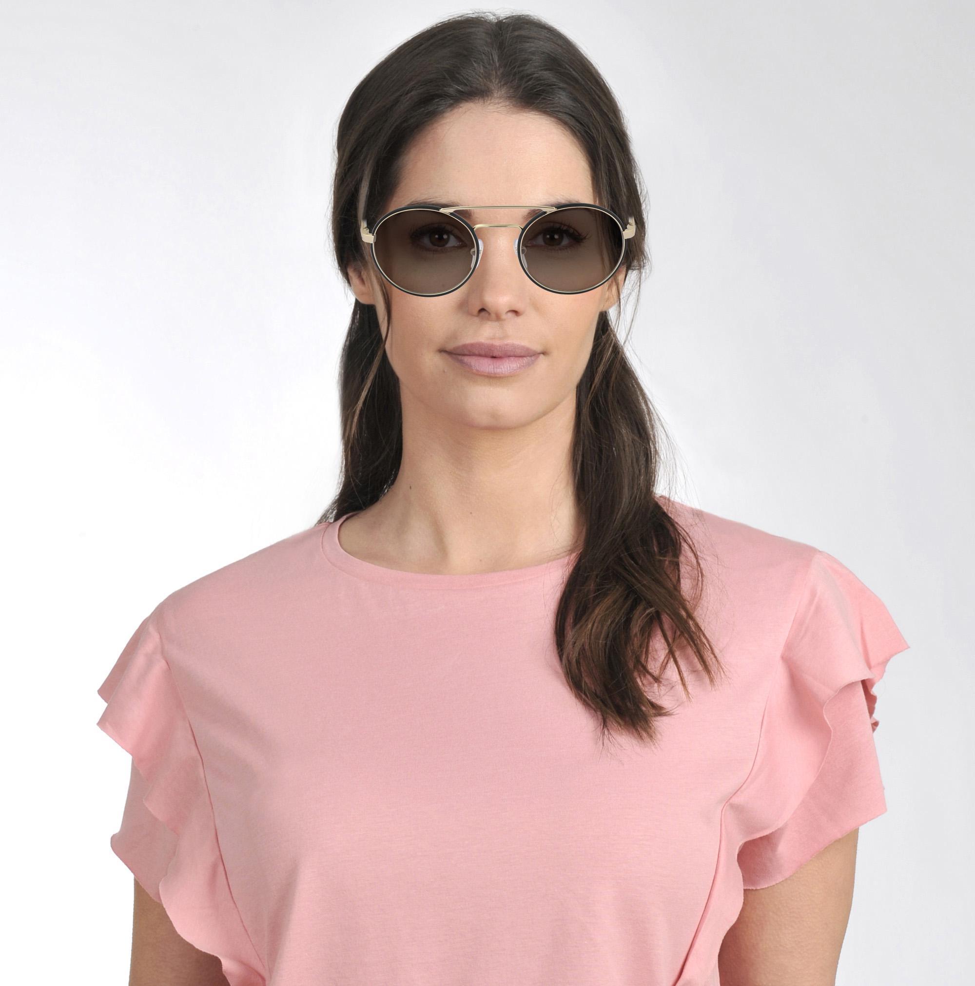 Prada 0pr 51ss Sunglasses In Brown Metal And Acetate
