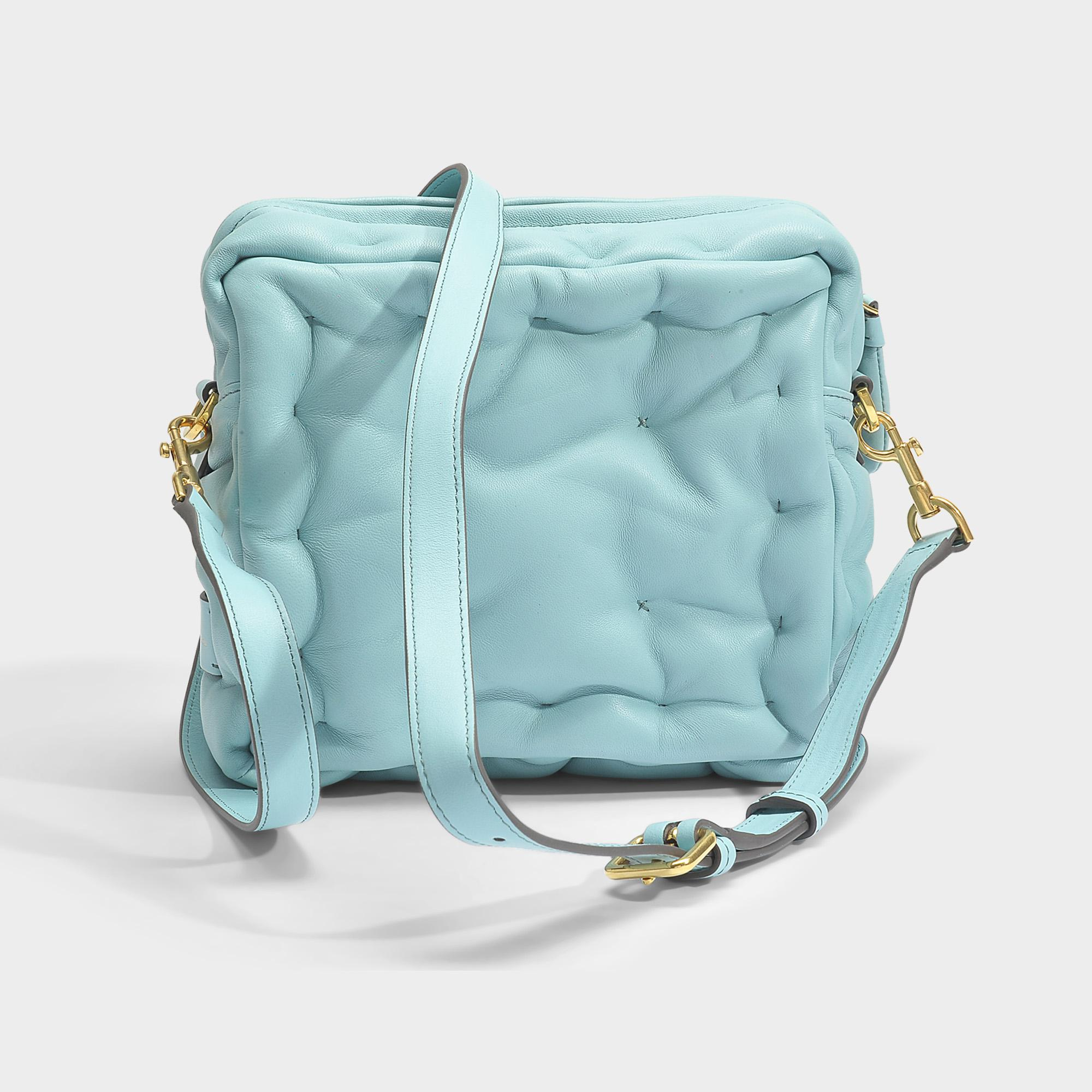 Anya Hindmarch Chubby Cube Crossbody Bag in Green