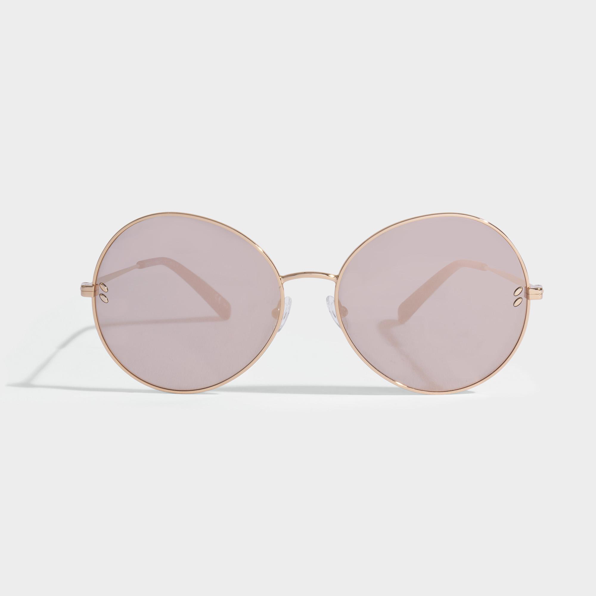 Stella McCartney Lunettes de Soleil avec Verres Double Miroir en Métal Or pRA0rX