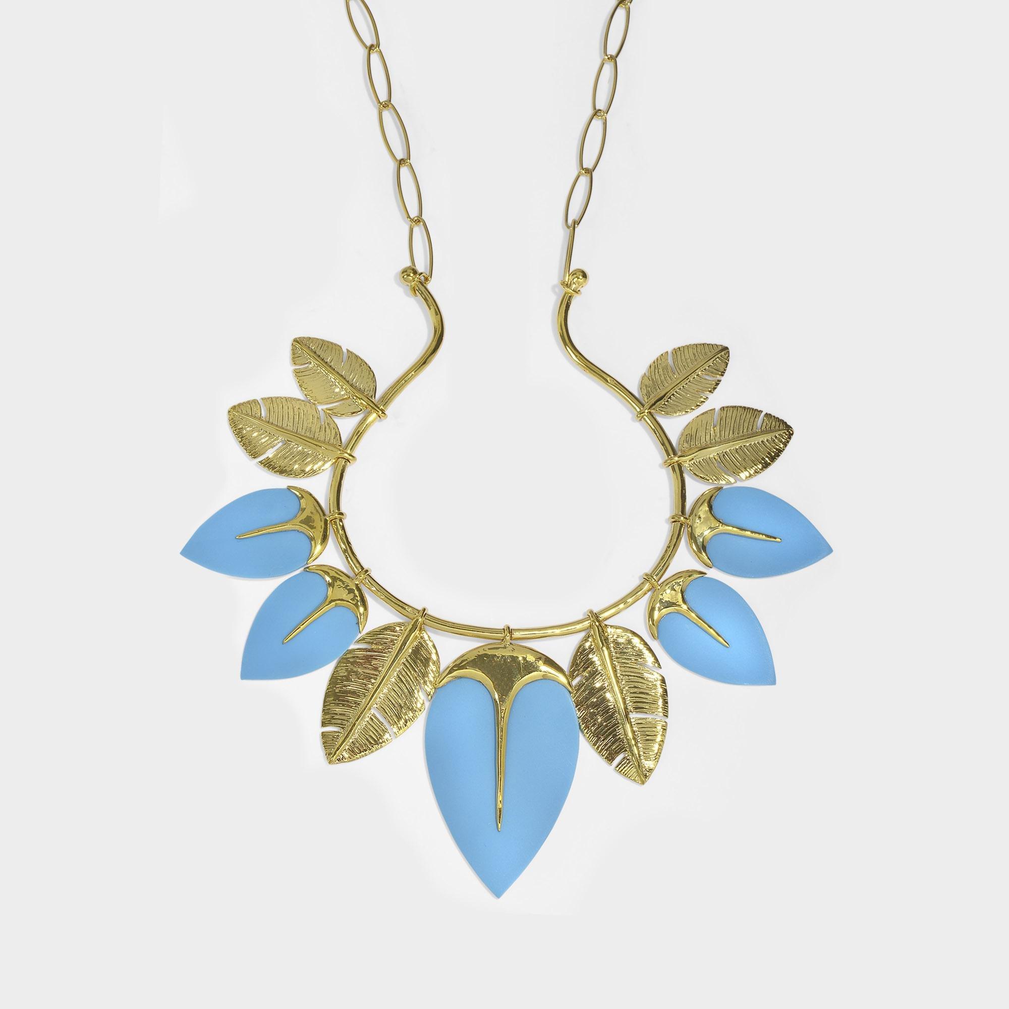 Aurélie Bidermann Wheat 13 Cobs Long Necklace in 18K Gold-Plated Brass 6GcgPO