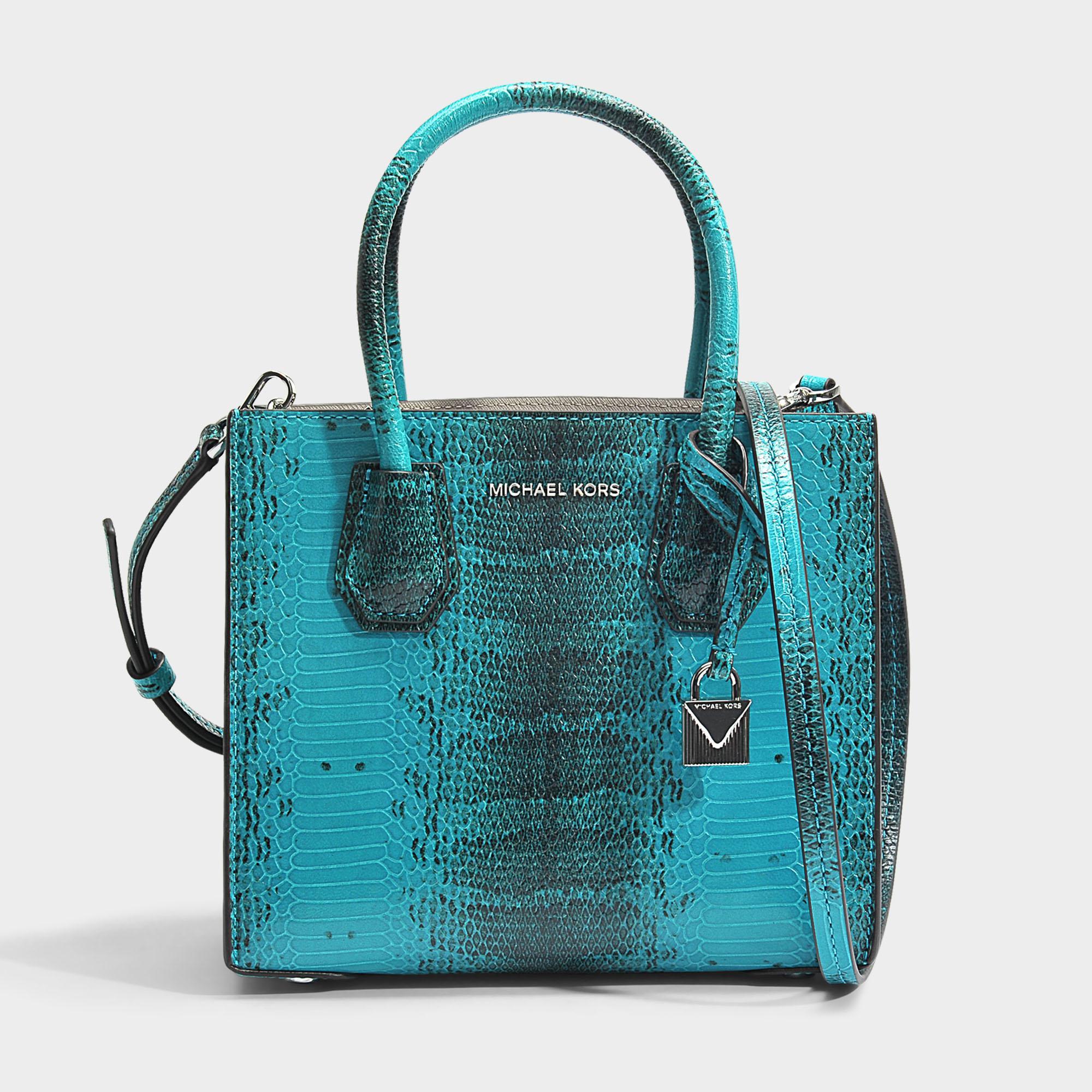 46ba9ab641c2 Lyst - MICHAEL Michael Kors Mercer Medium Messenger Bag In Tile Blue ...