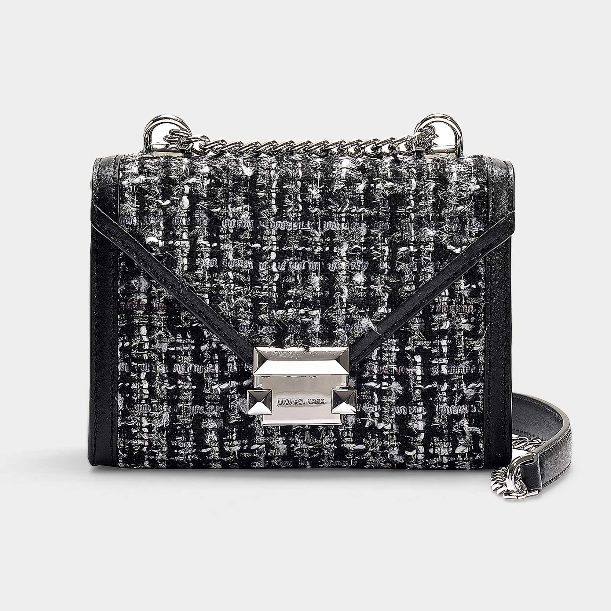 fc5febadf208 Lyst - MICHAEL Michael Kors Whitney Small Shoulder Bag In Black ...