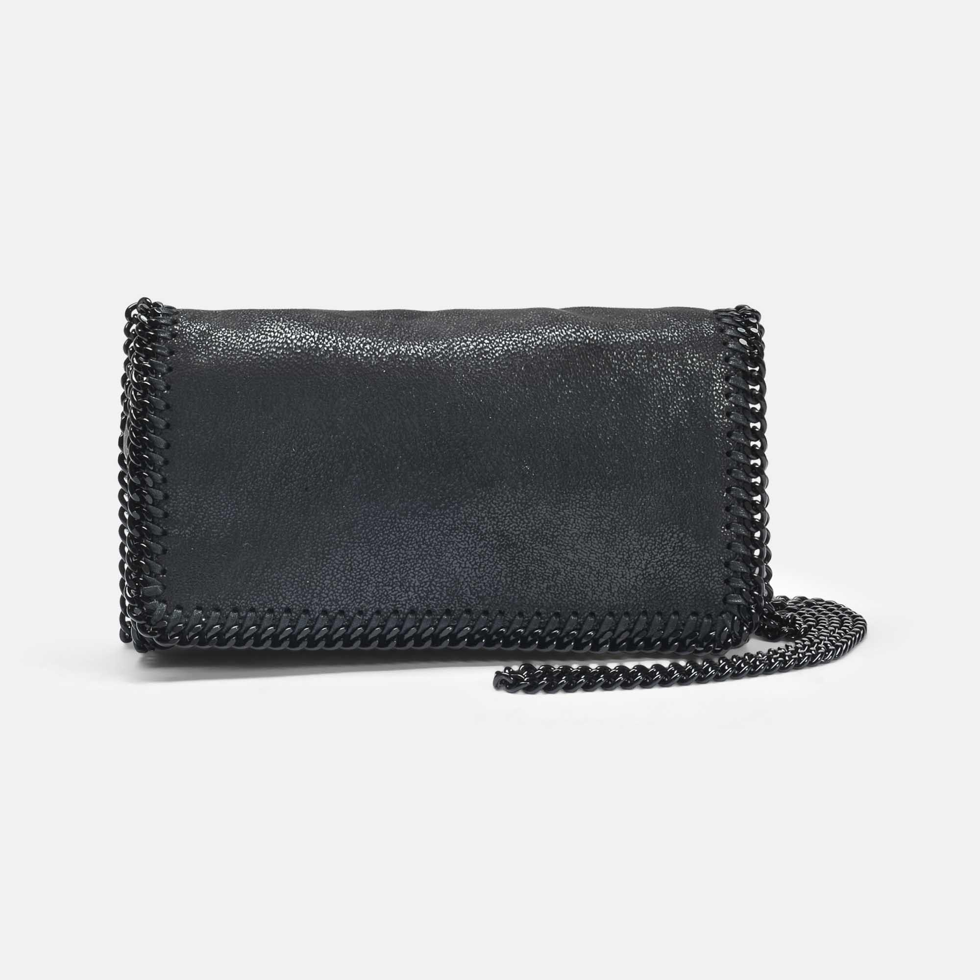 Cheap Great Deals Clearance Visit New Shaggy Deer Black Chain Falabella Clutch Bag in Black Eco Leather Stella McCartney Outlet Sale 78egXS3Sc