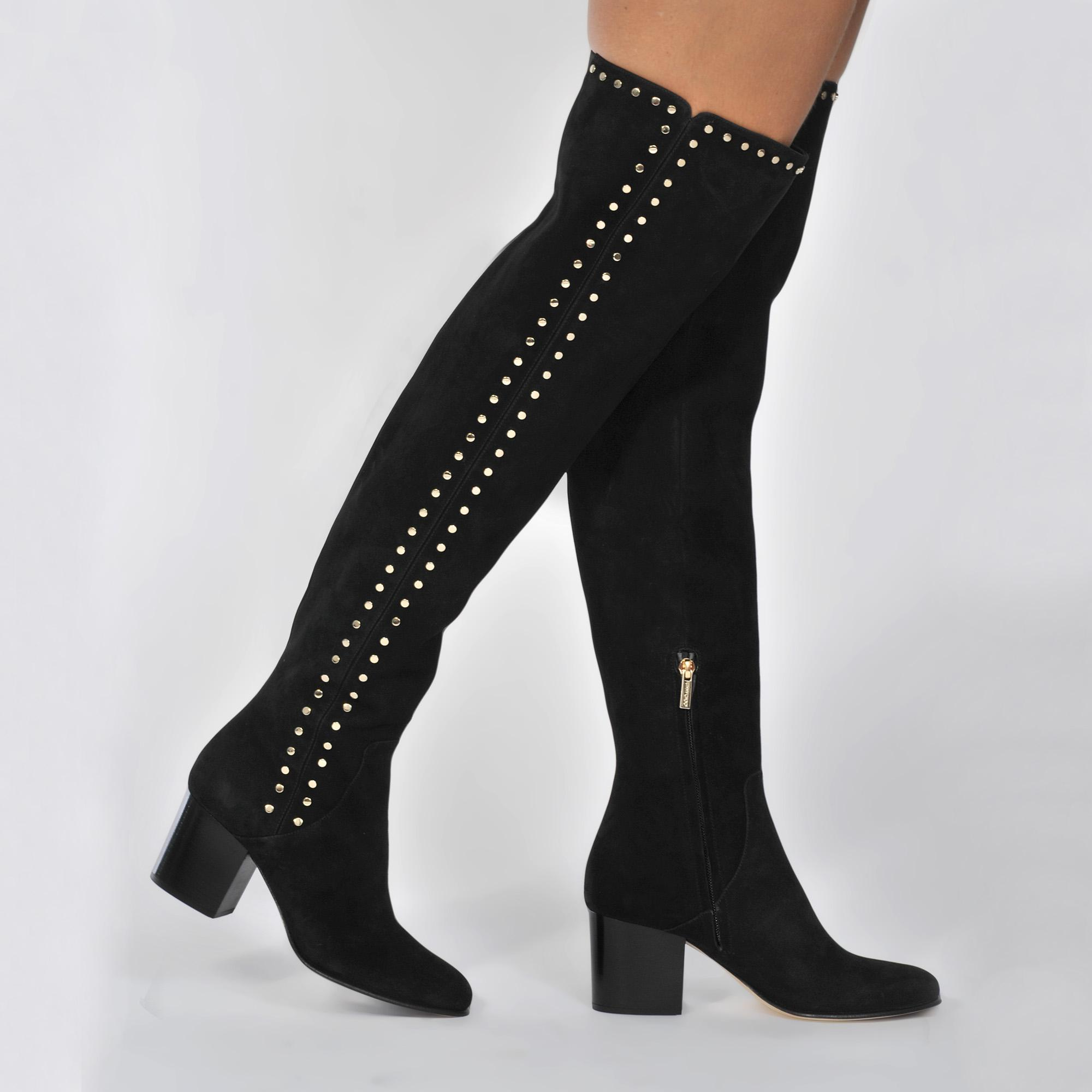 e287361d8a8 Jimmy Choo Harlem Over The Knee Boots in Black - Lyst
