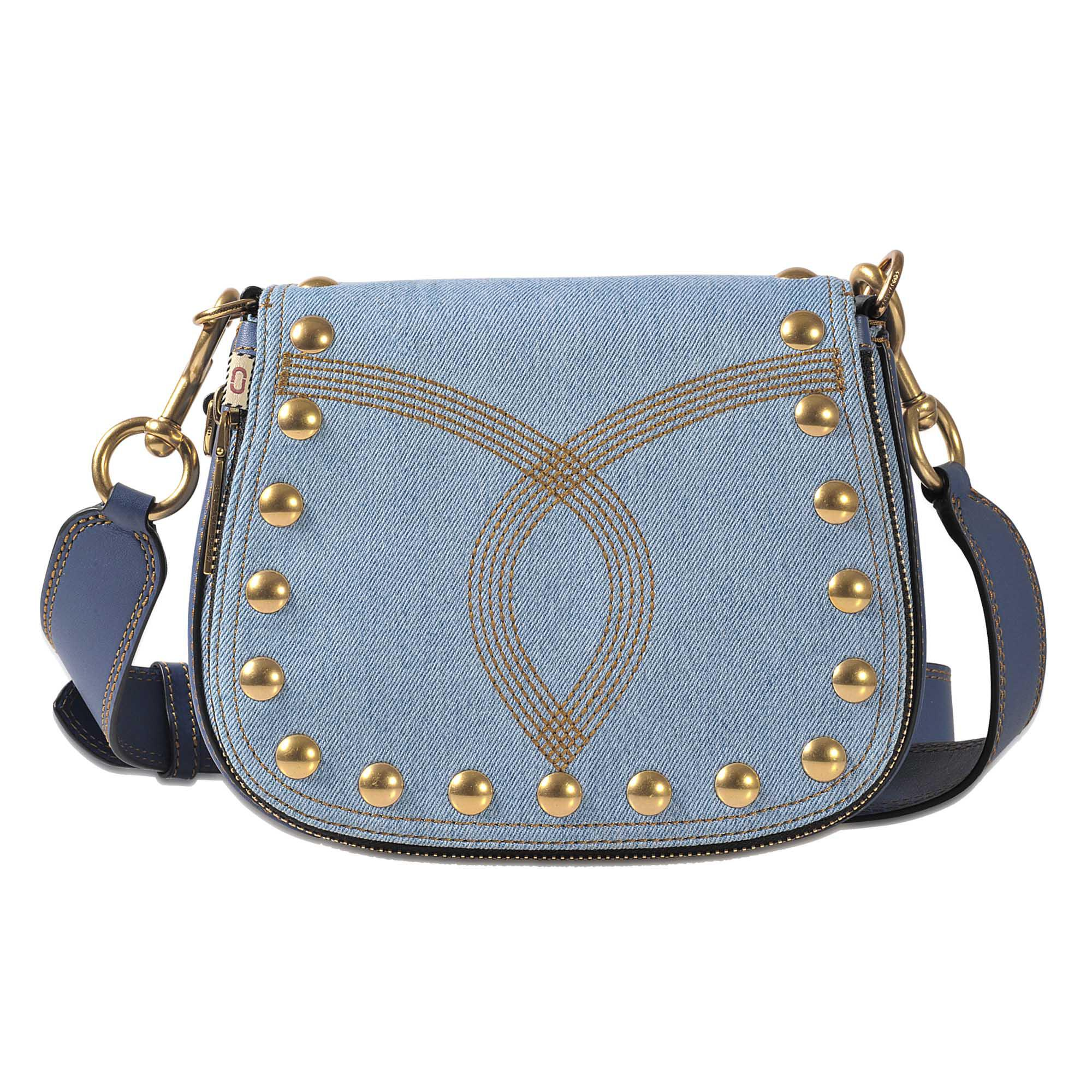 bb504bd64c2e Lyst - Marc Jacobs Denim Small Nomad Bag in Blue