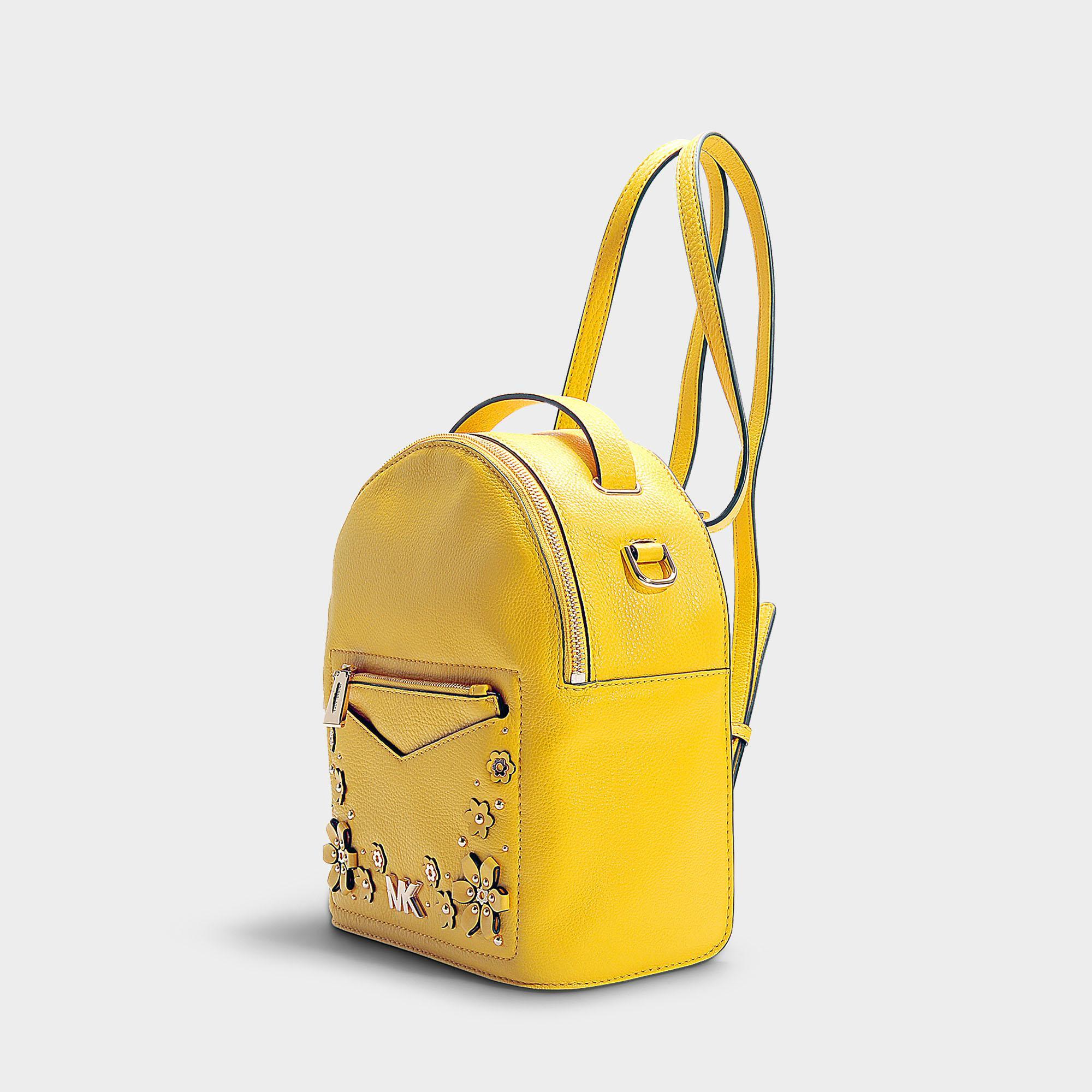 Jessa Small Convertible Backpack In Sunflower Calfskin