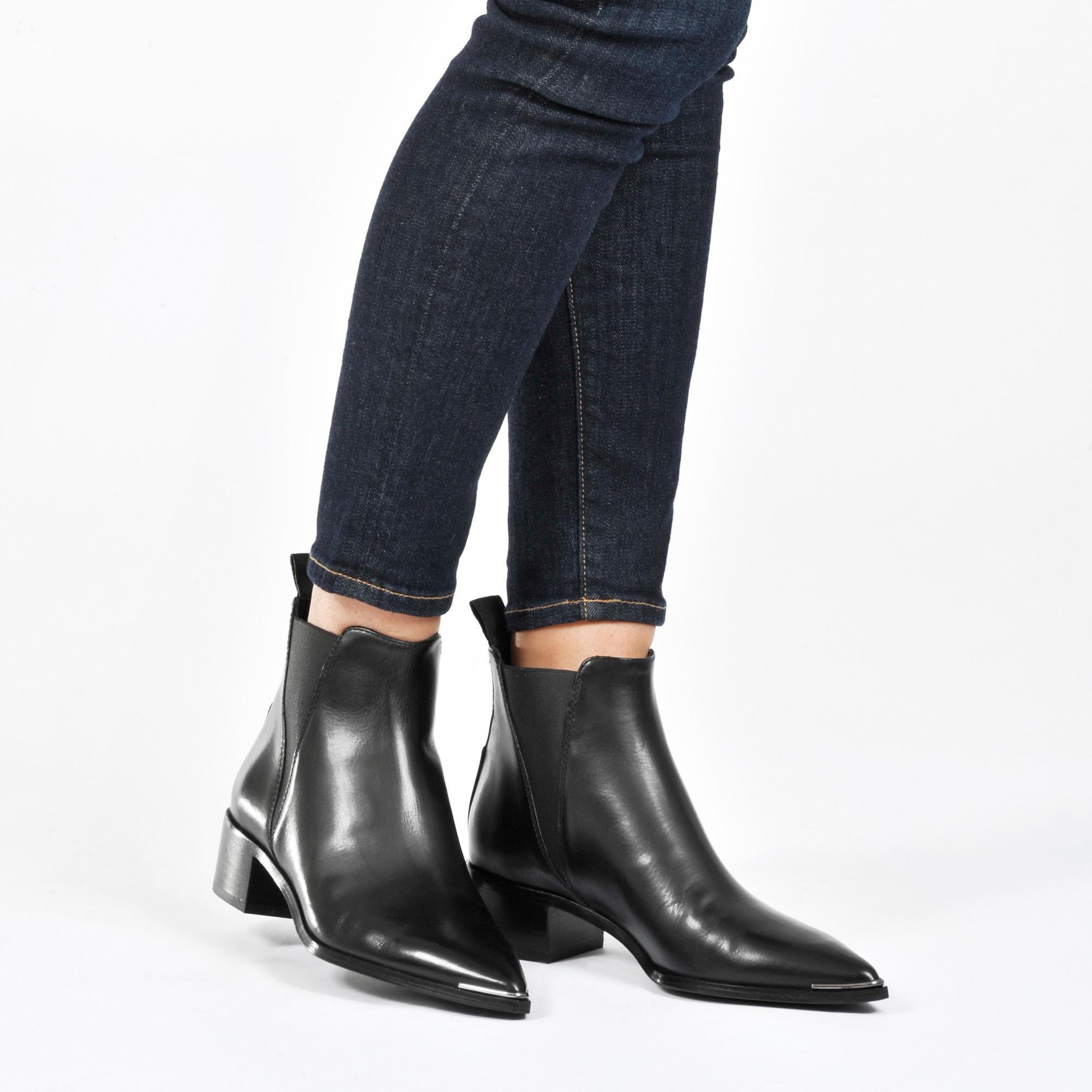Acne Studios Jensen Flat Boot in Black