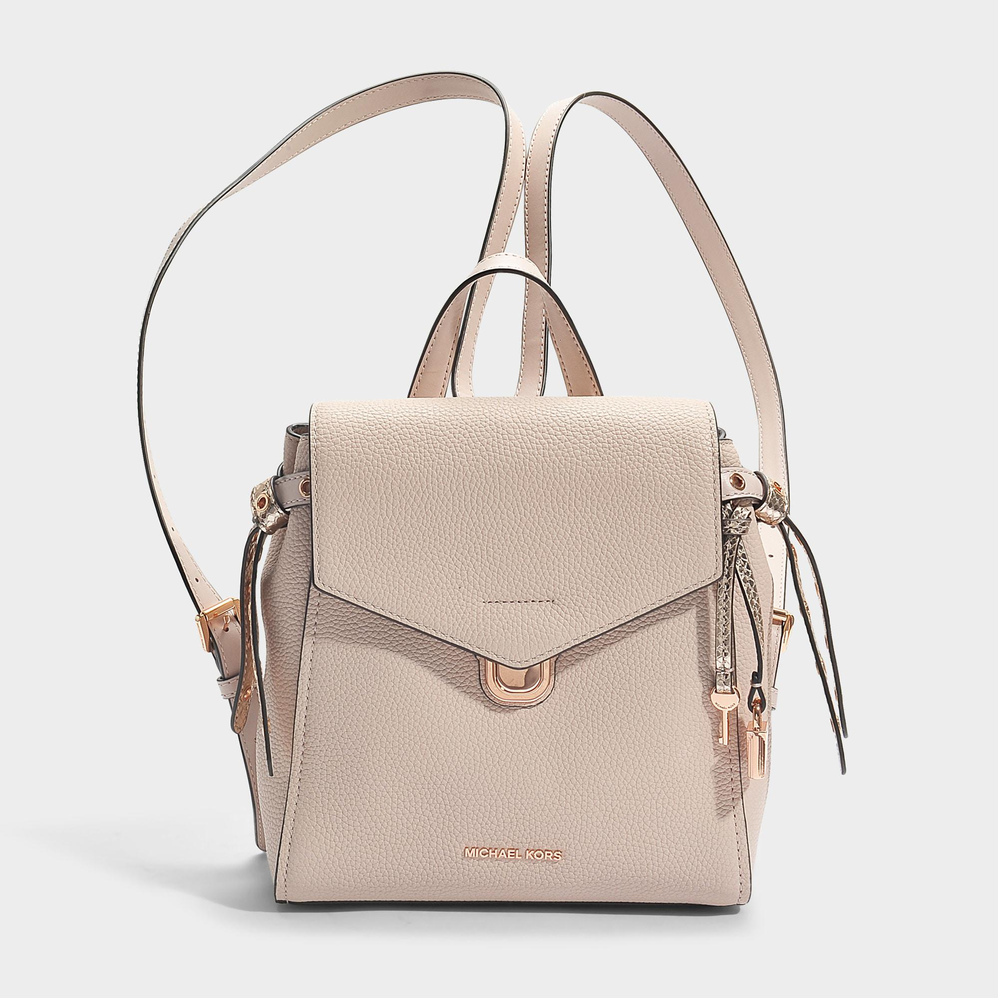 f545950cde26eb Lyst - MICHAEL Michael Kors Bristol Small Backpack In Soft Pink ...