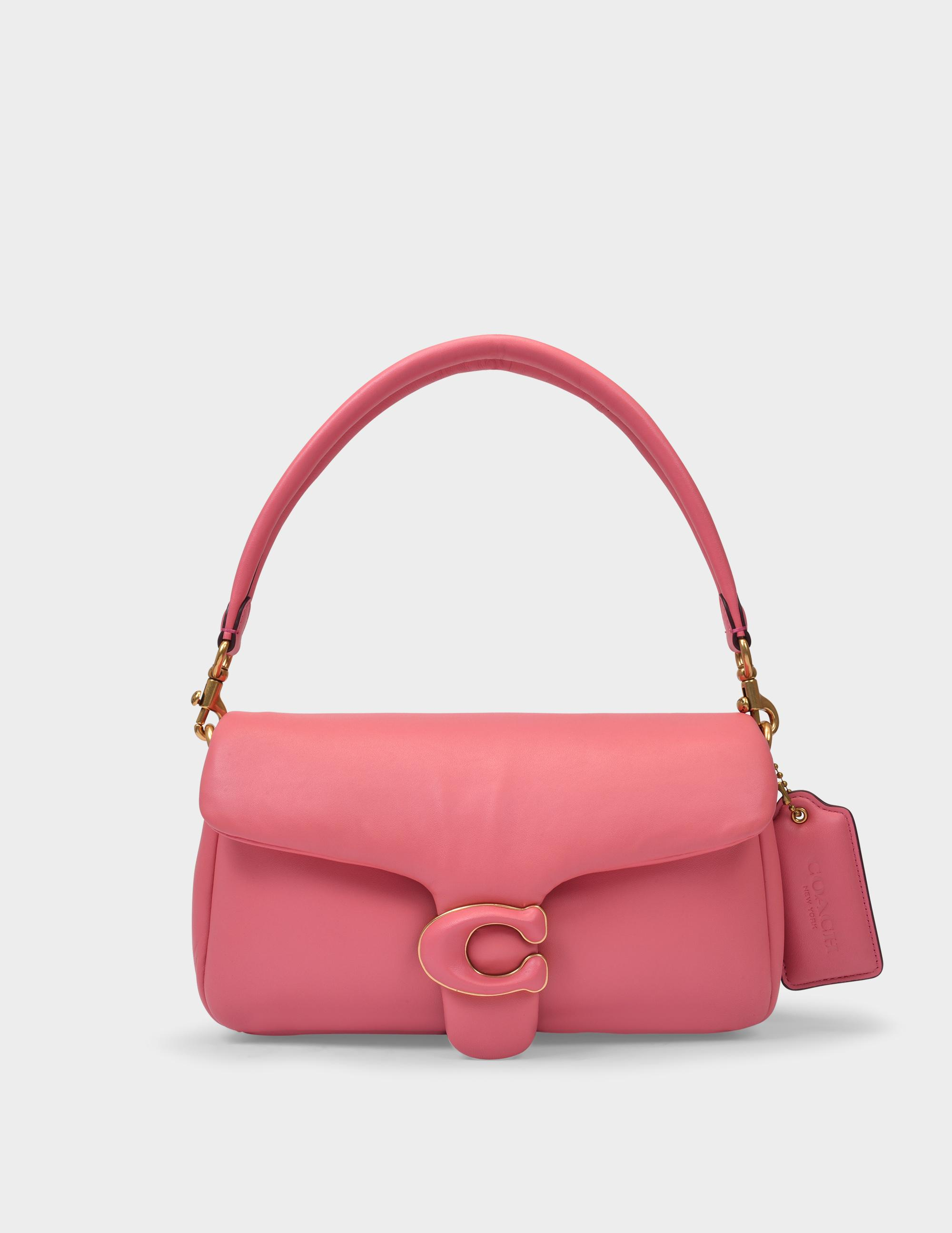 Tabby Pillow Bag In Taffy Pink Leather