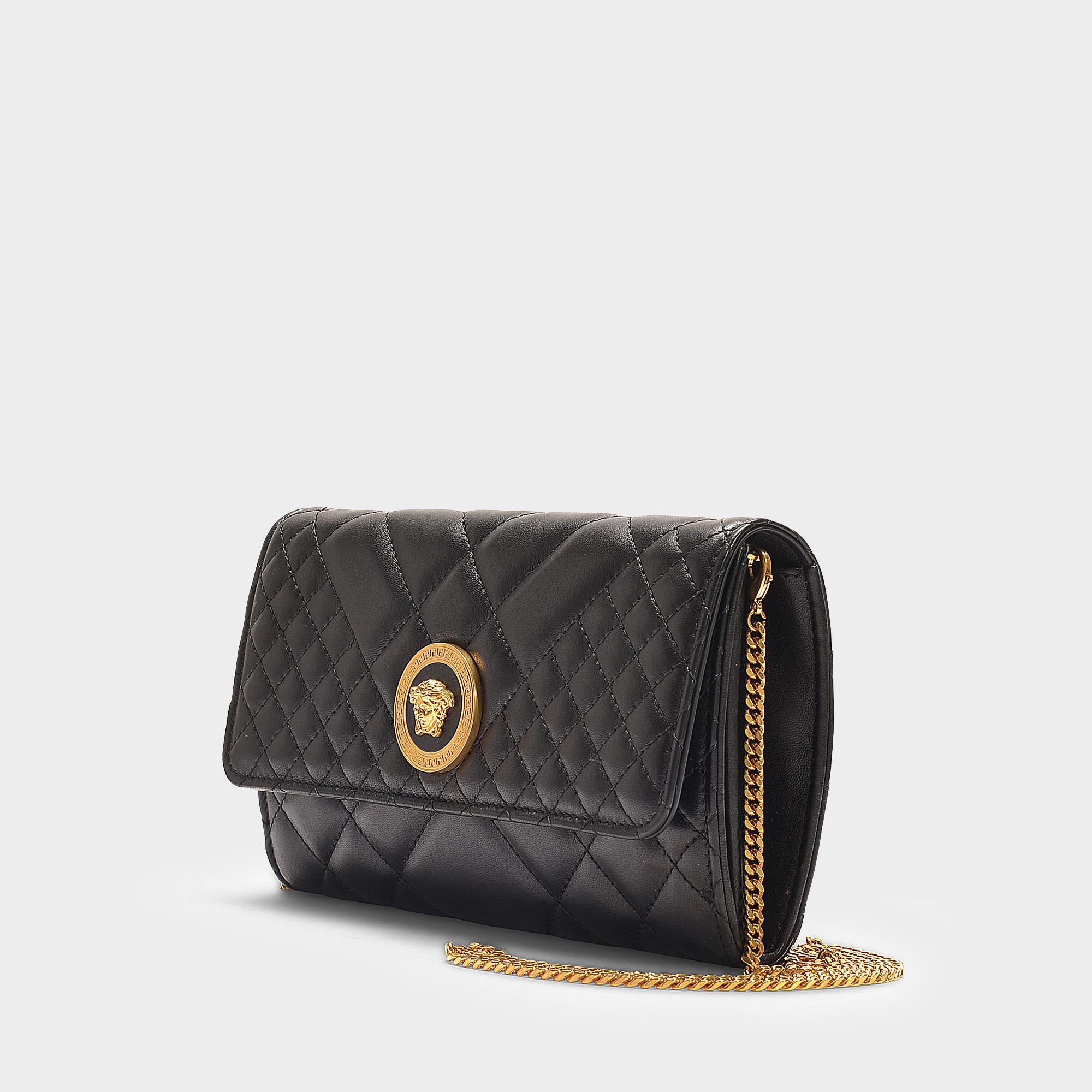 Versace Medusa Evening Bag In Black