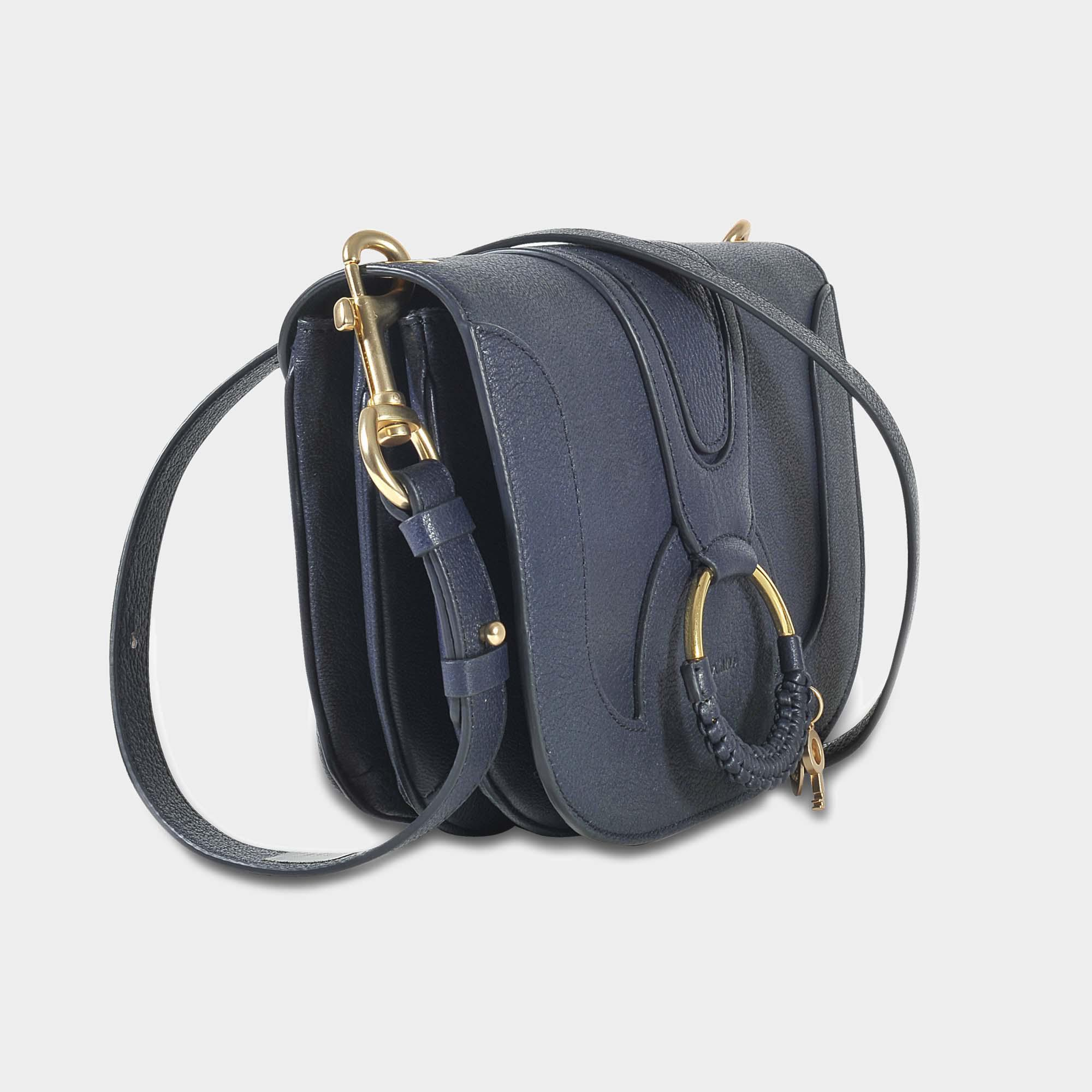 See By Chloé Hana Small Crossbody Bag In Ultra Marine Grained Goatskin in Blue
