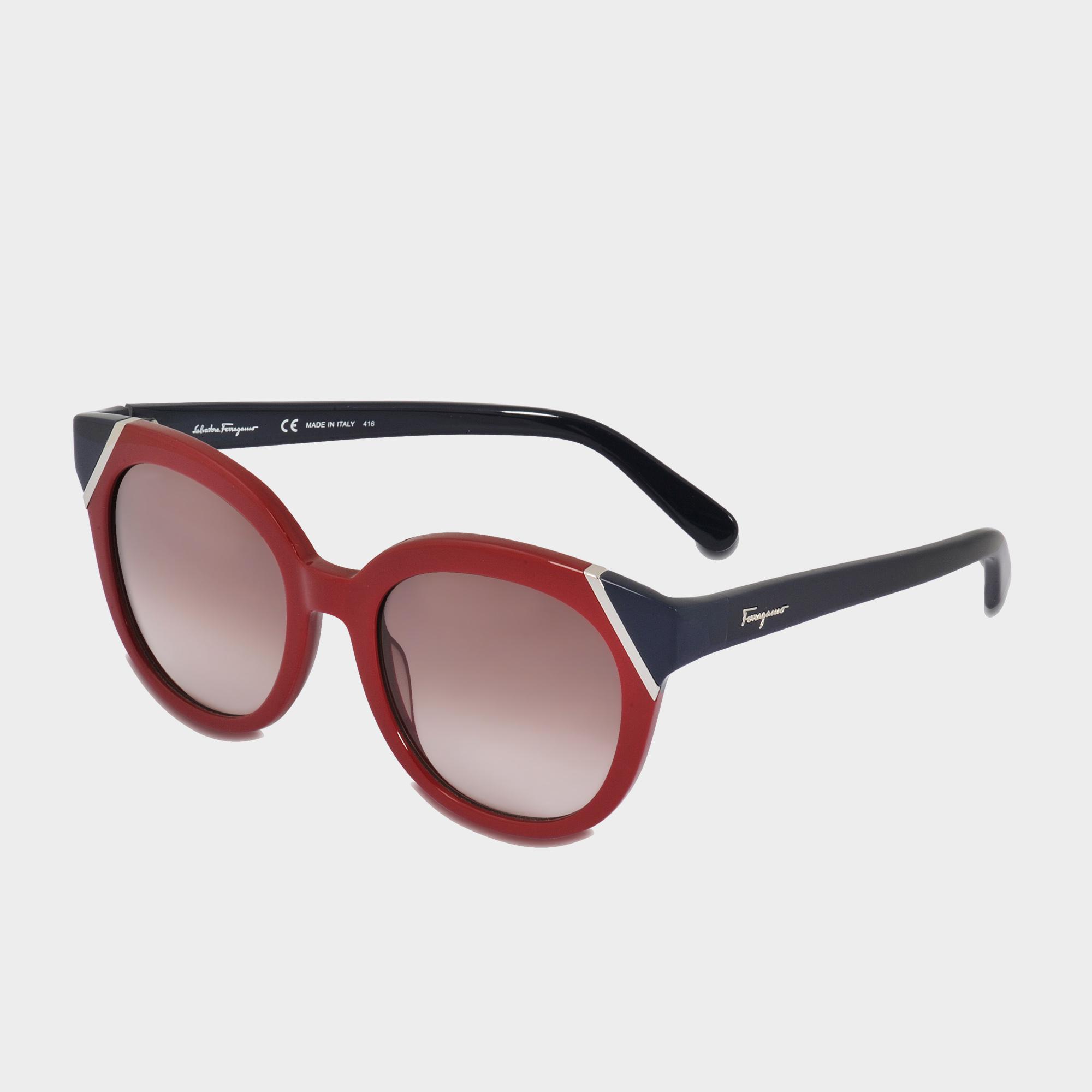 Ferragamo Colorblock Tea Cup Sunglasses