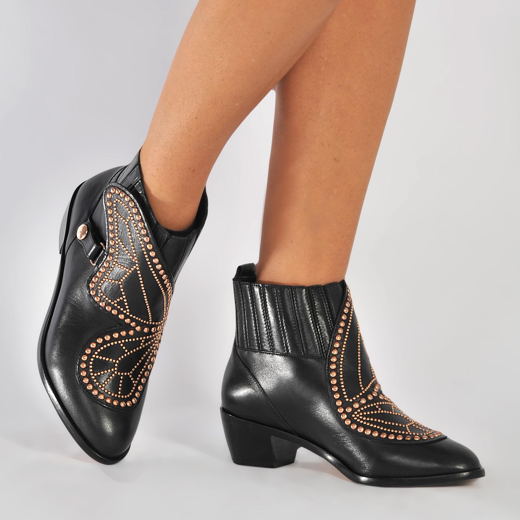 f55f4761ea1 Sophia Webster Karina Butterfly Boot in Black - Lyst
