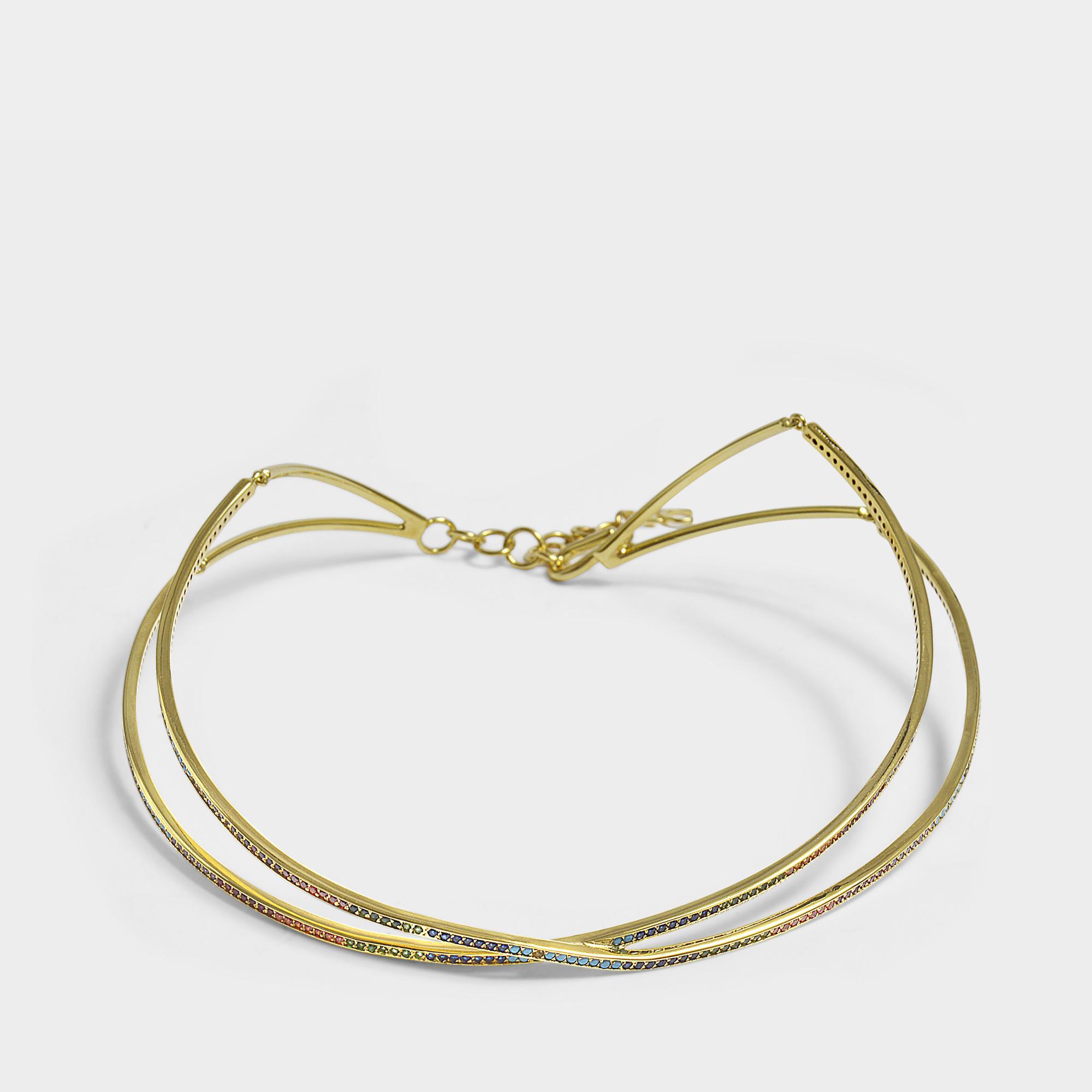 Lyst - Joanna Laura Constantine Criss Cross Choker Necklace In Multi ...
