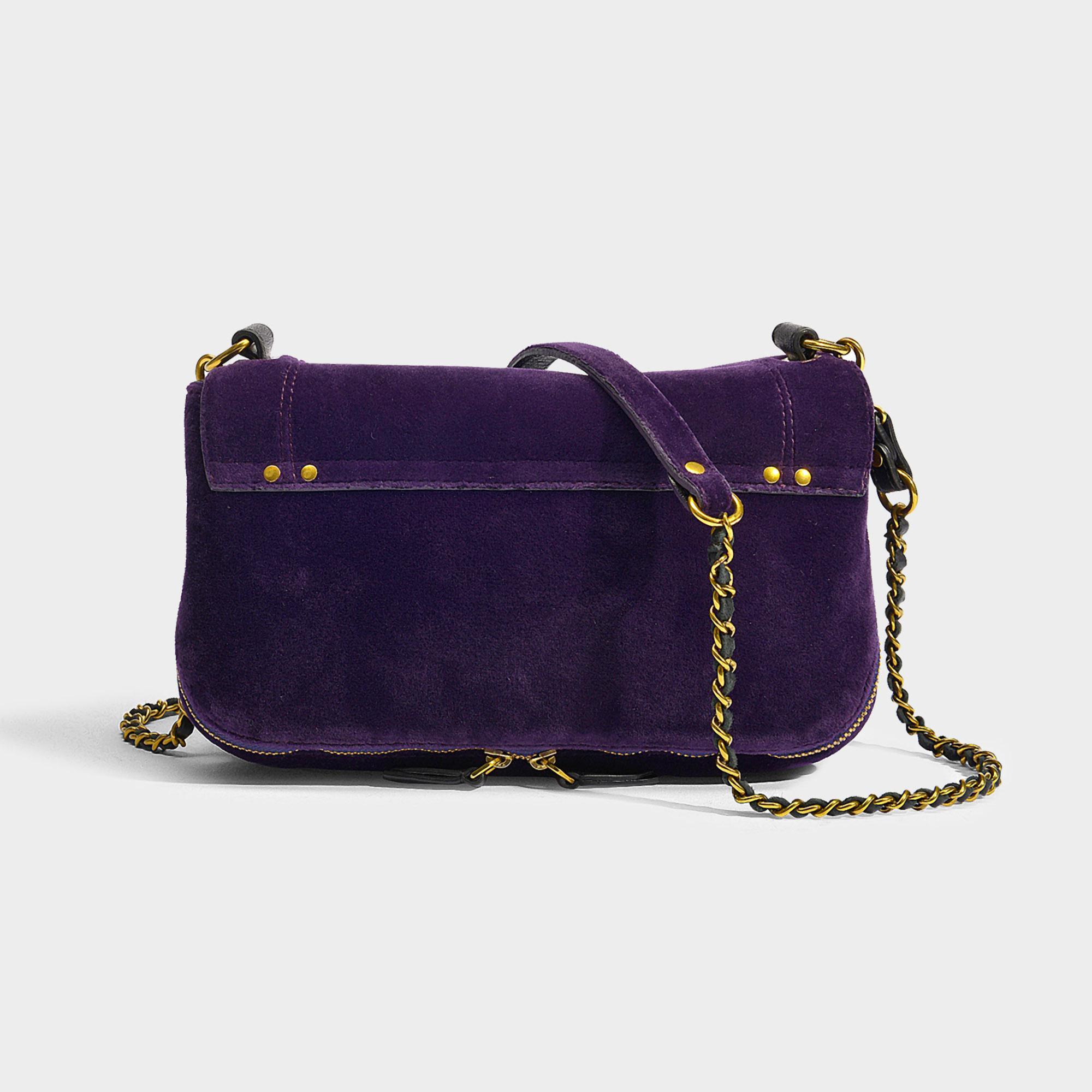 Jérôme Dreyfuss Bobi Crossbody Bag In Purple Velvet Lambskin