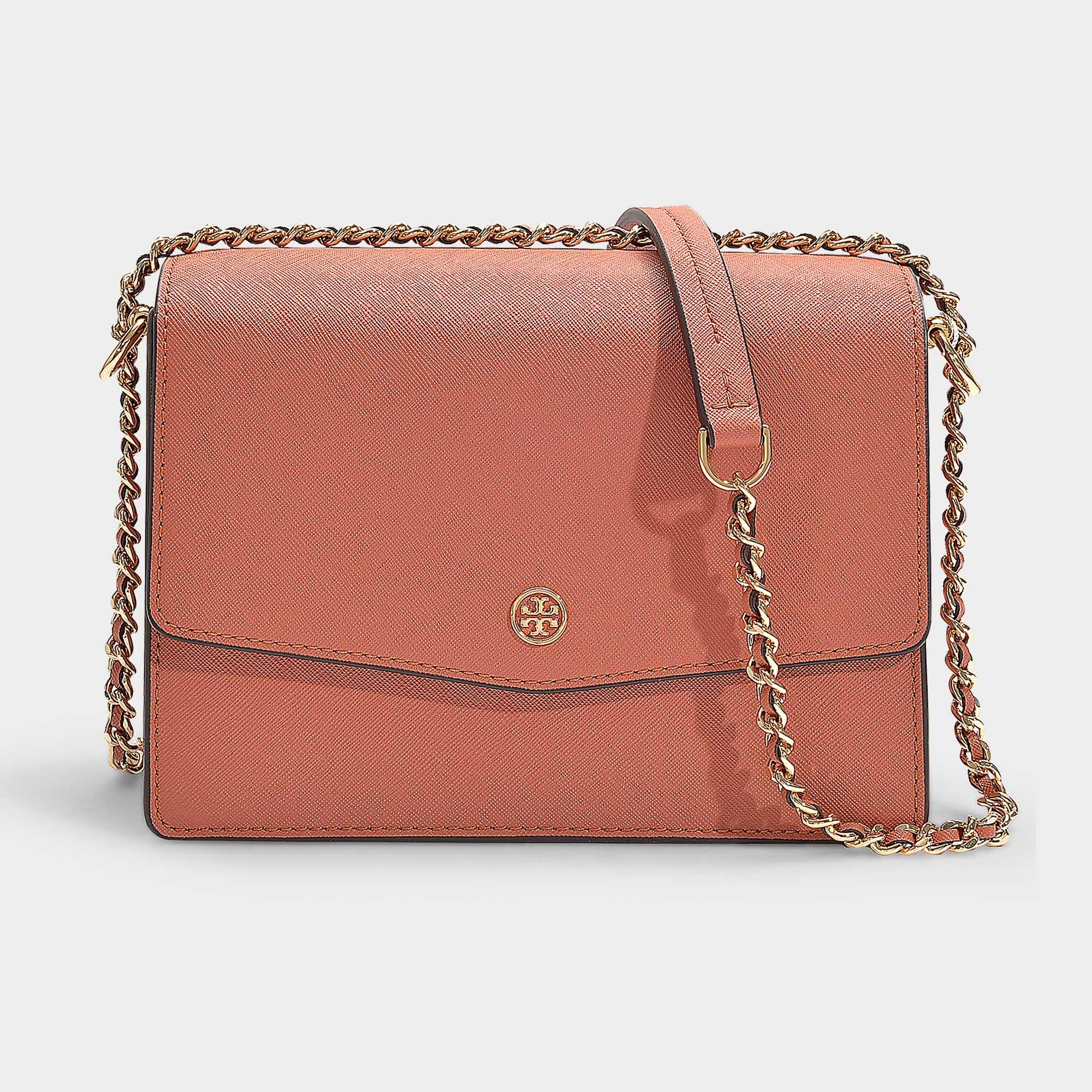 c5d06c71d081 Tory Burch. Women s Pink Robinson Convertible Shoulder Bag In Tramonto  Calfskin