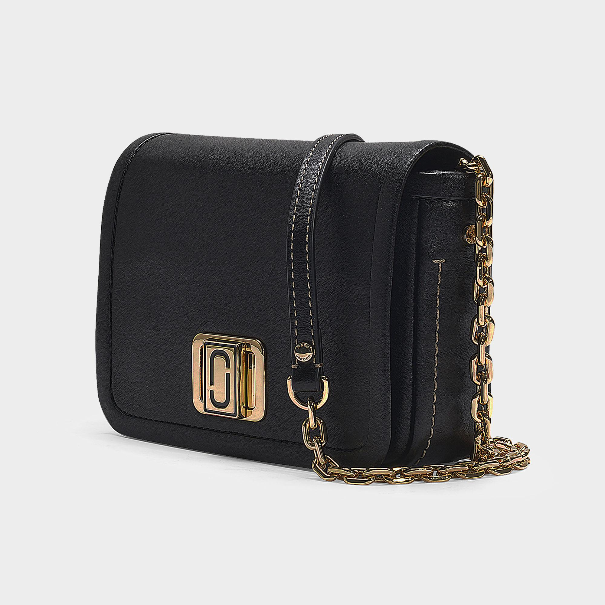 816143696ebe Lyst - Marc Jacobs The Mini Squeeze Bag With Chain In Black Calfskin ...