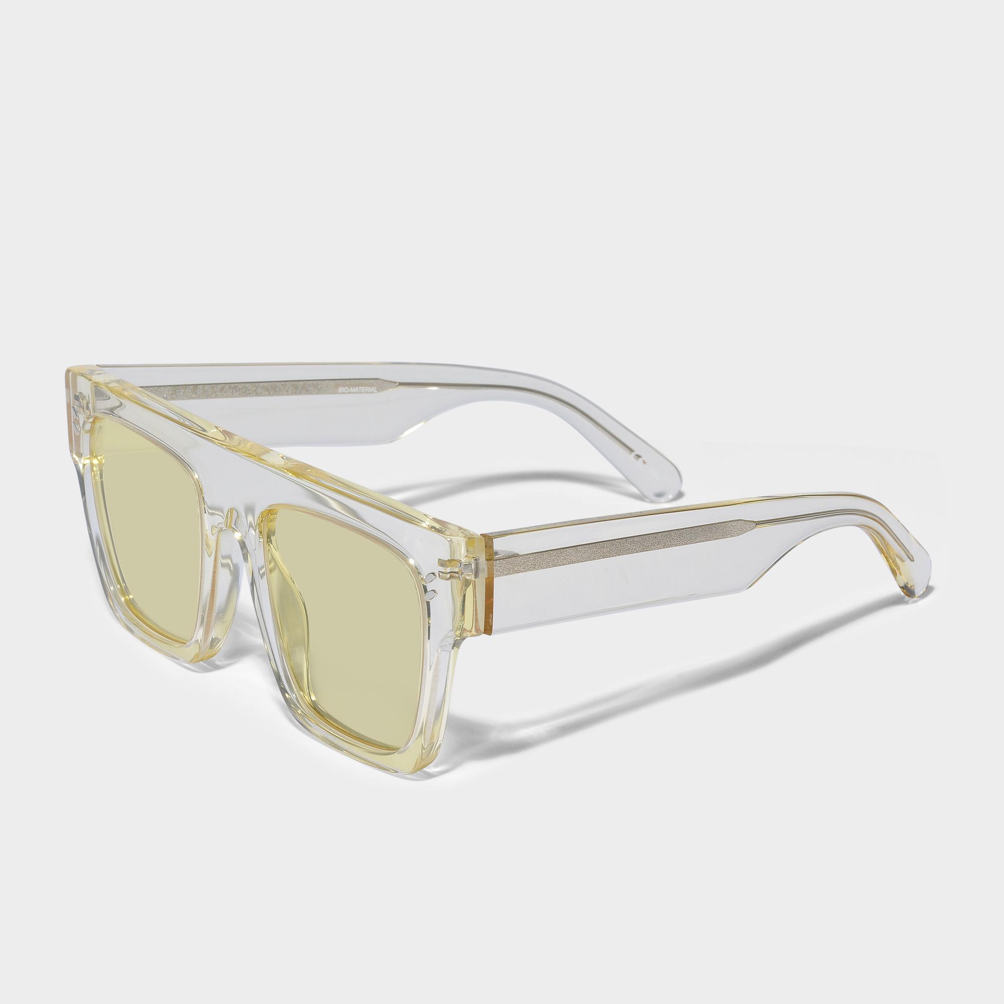 Stella McCartney Bio-injected Sunglasses In Yellow Bio-acetate