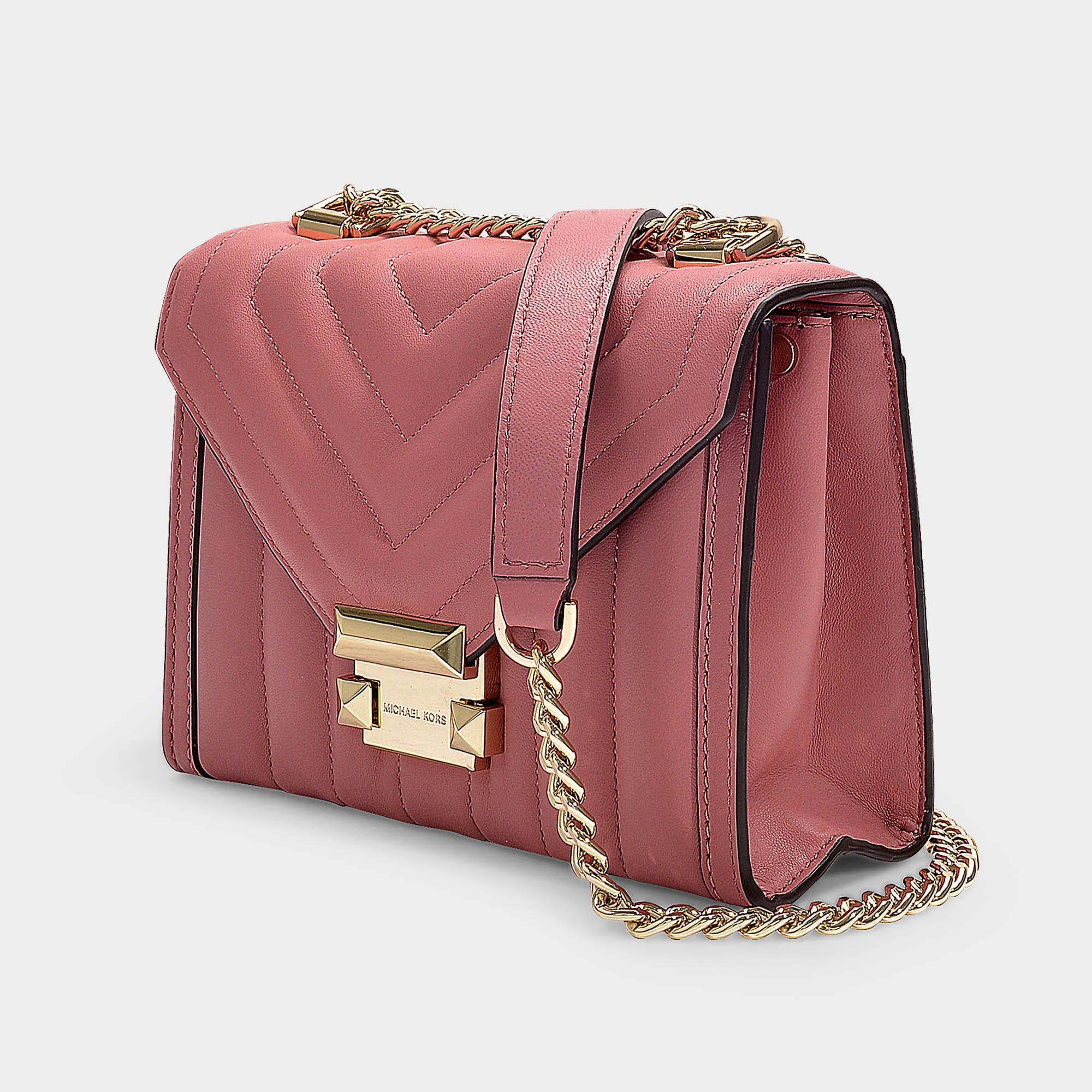 Michael Michael Kors Leather Whitney Shoulder Bag In Pink Lyst