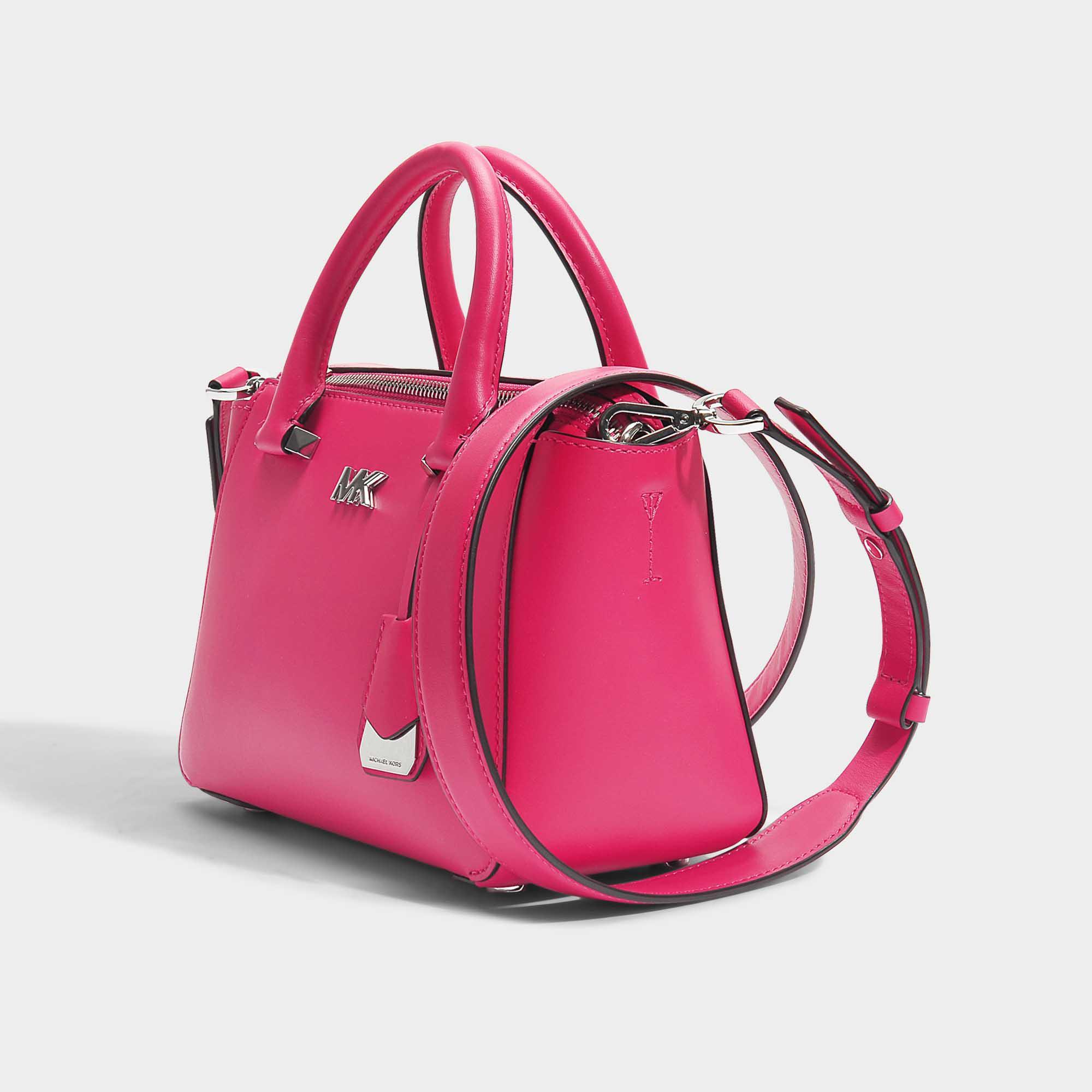 Lyst - MICHAEL Michael Kors Nolita Mini Messenger Bag In Ultra Pink ... 9afdf38782