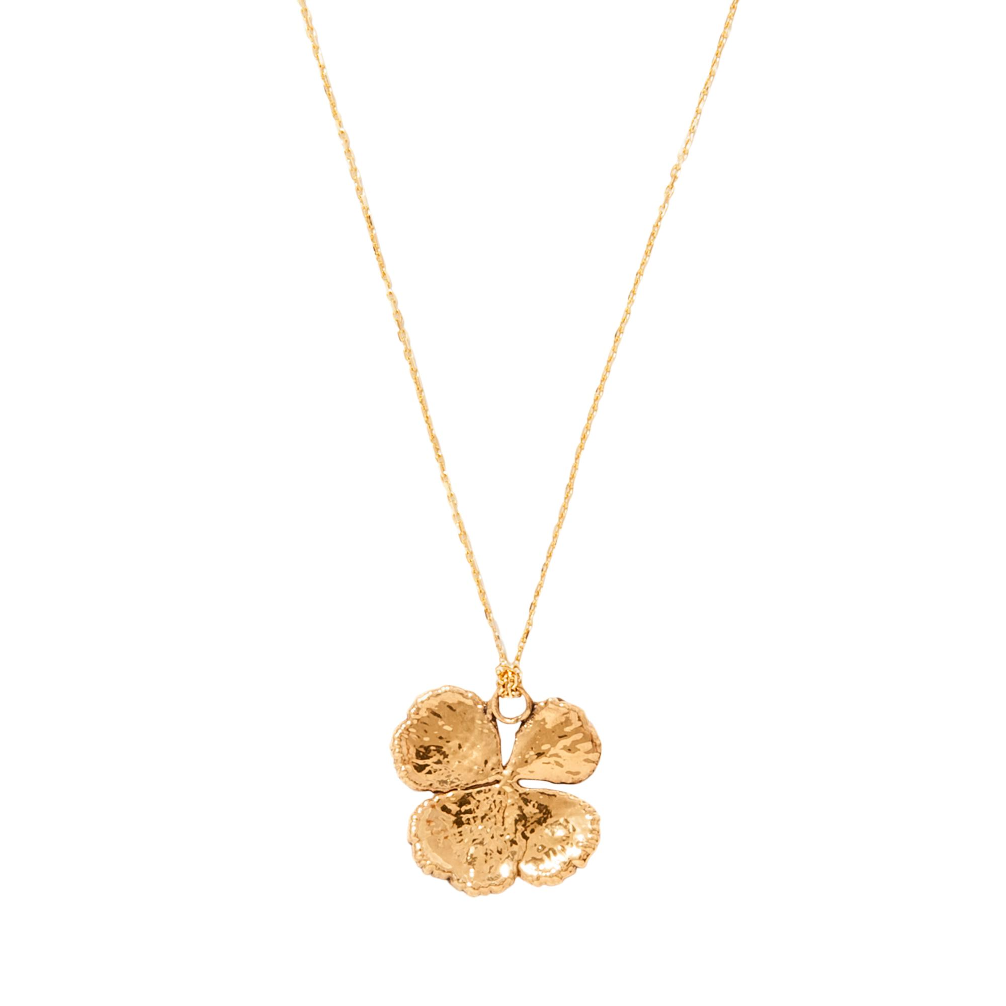 Aurélie Bidermann Natural Mini Clover 18-karat gold necklace 8WosfwE