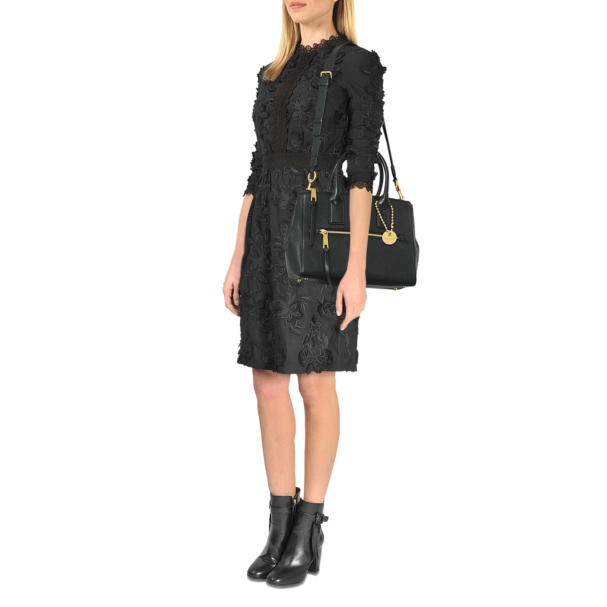 Marc Jacobs Leather Recruit East / West Tote in Black