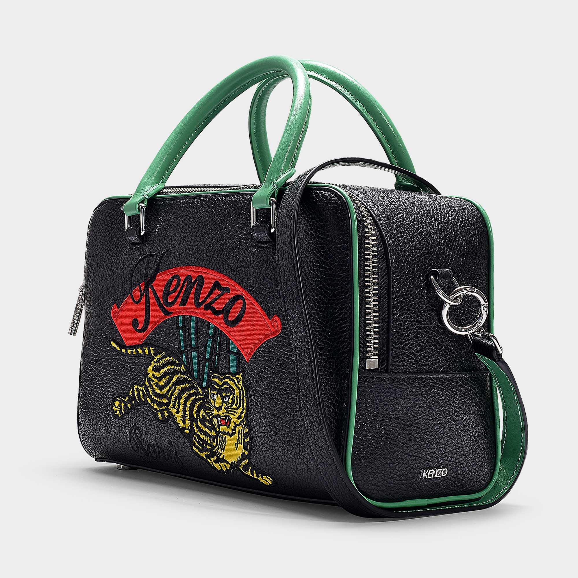 fcaf66742 KENZO Jumping Tiger Large Crossbody Bag In Black Calfskin in Black ...