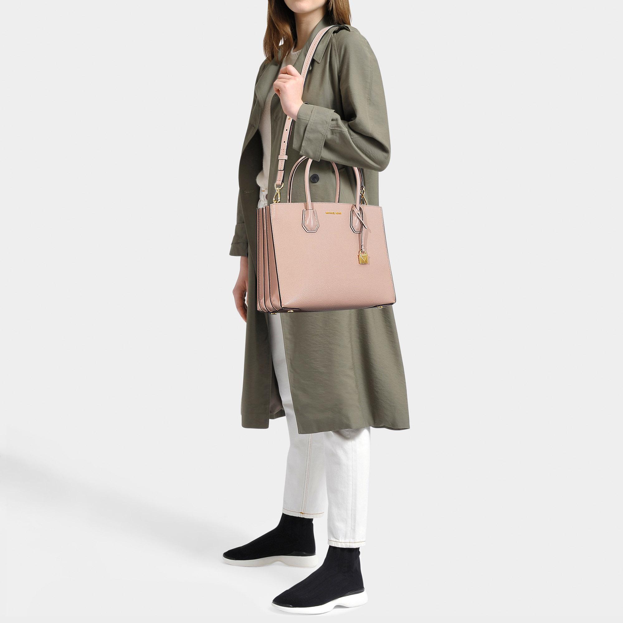 6de276c1414f MICHAEL Michael Kors - Mercer Large Accordion Convertible Tote Bag In Soft  Pink Grained Calfskin -. View fullscreen