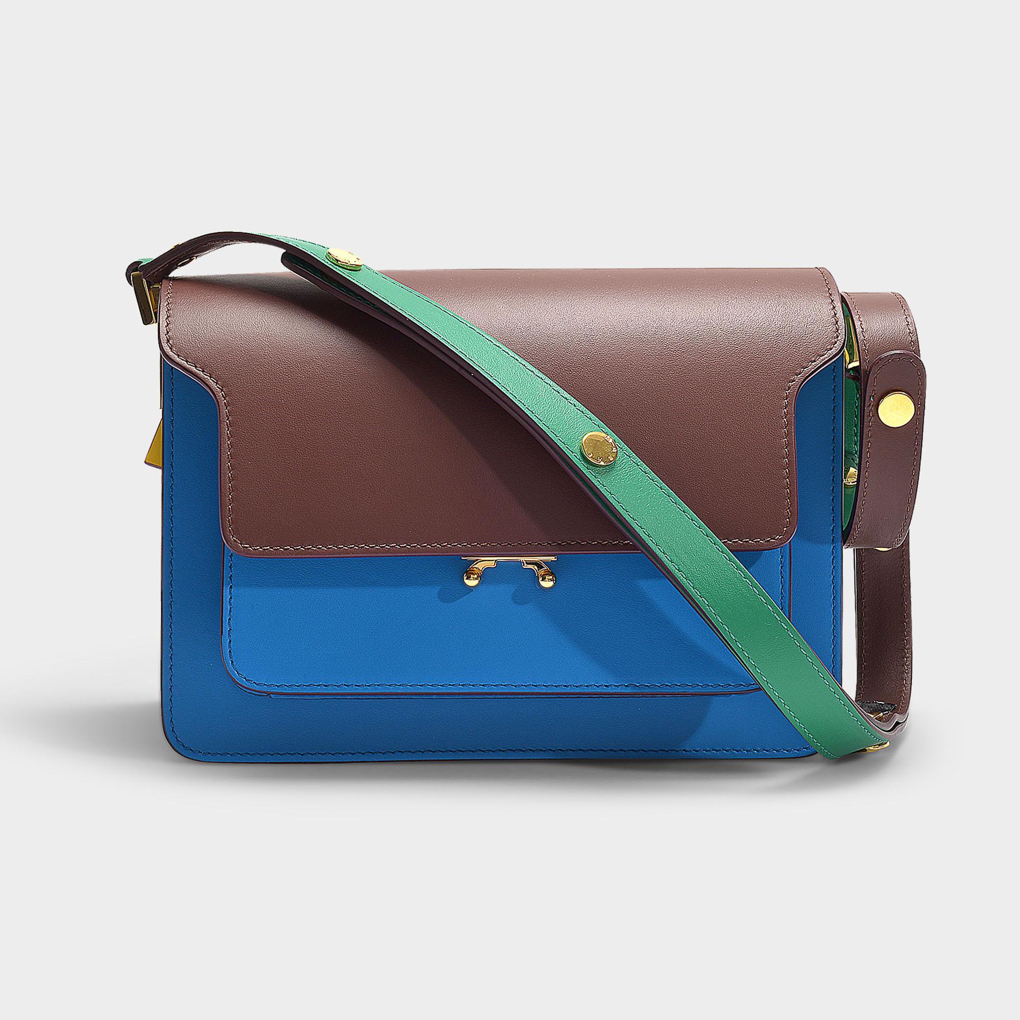 303a2374a2 Sac Trunk Medium en Cuir de Veau Mat Multicolore Marni en coloris ...