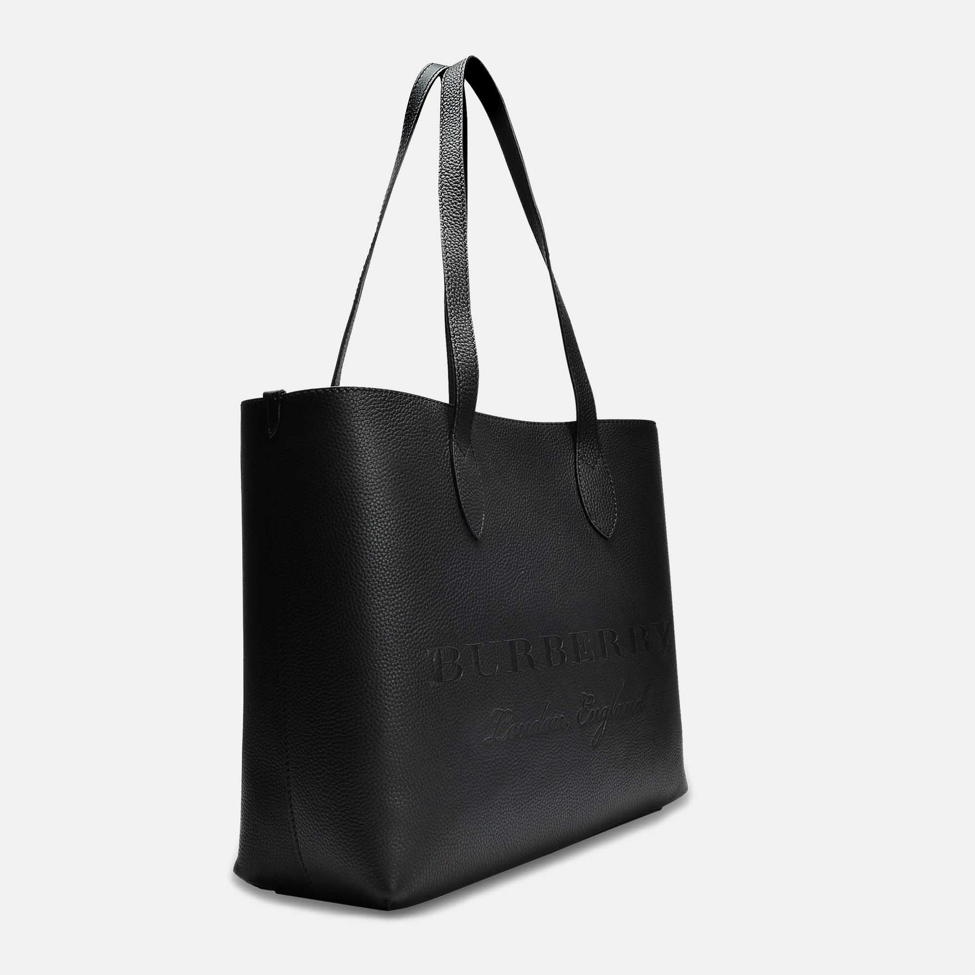 Burberry Large Remington Tote Bag In Black Grained Calfskin in Black ... b10075cb544e9