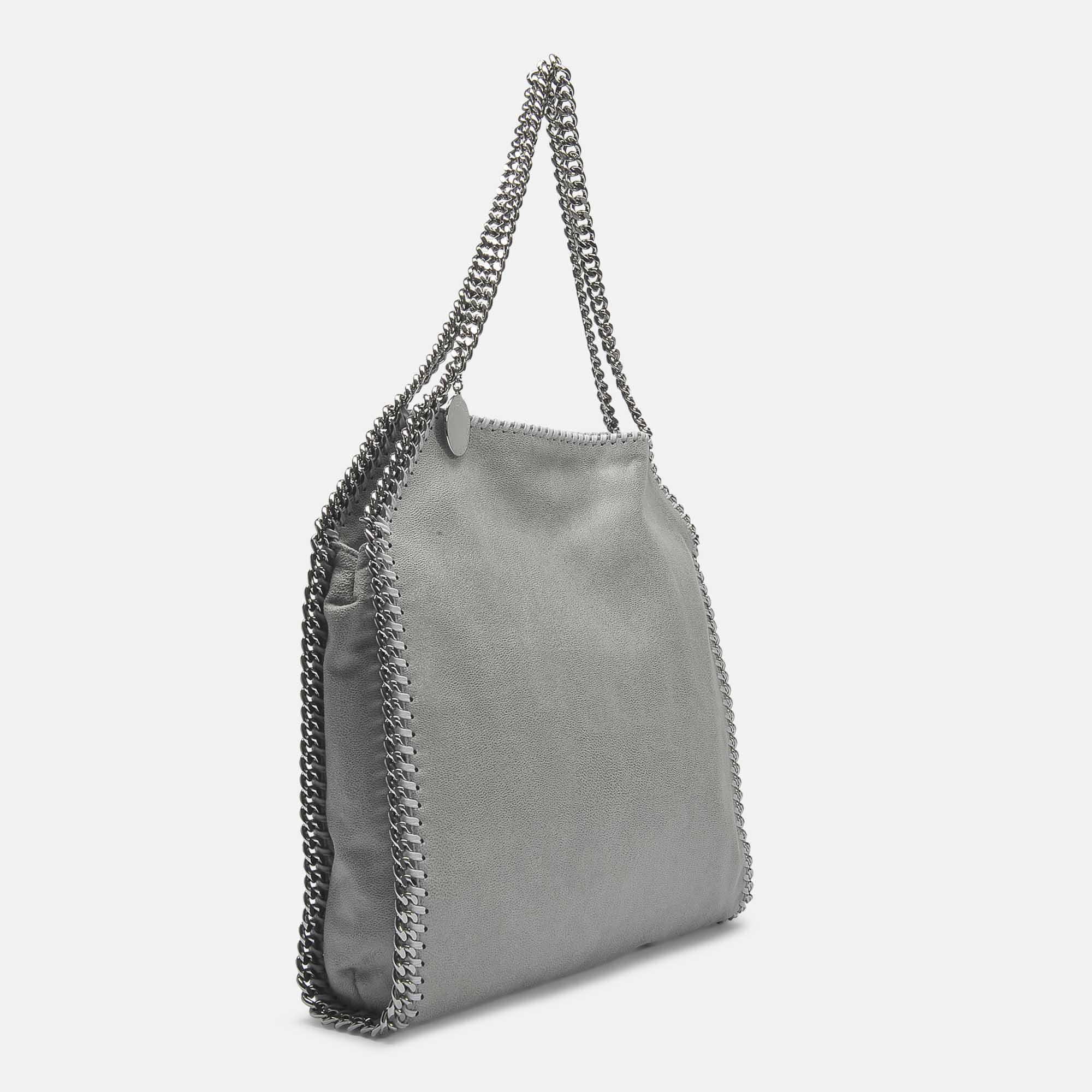 Stella McCartney Shaggy Deer Falabella Small Tote In Light Grey Synthetic Material in Grey