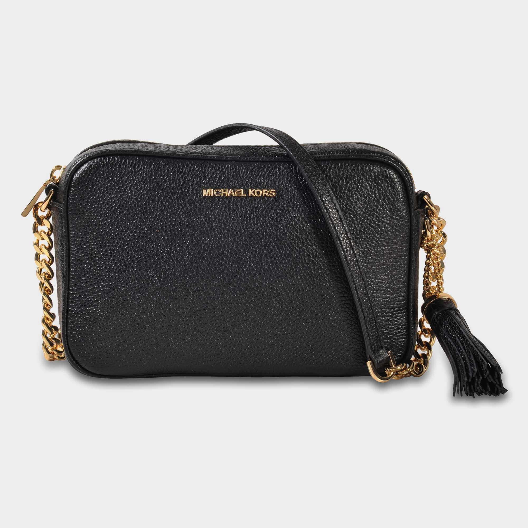 2ea16ed98b2d MICHAEL Michael Kors Crossbodies Medium Camera Bag In Black Grained ...