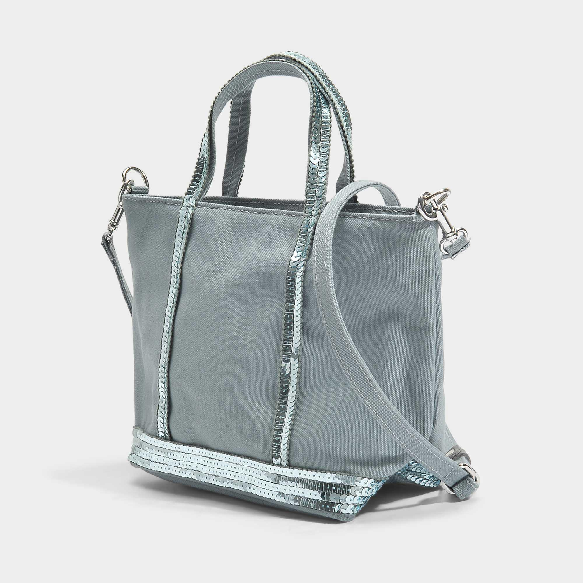 709cf50388d951 Vanessa Bruno Canvas And Sequins Baby Tote Bag In Nuage Cotton in ...